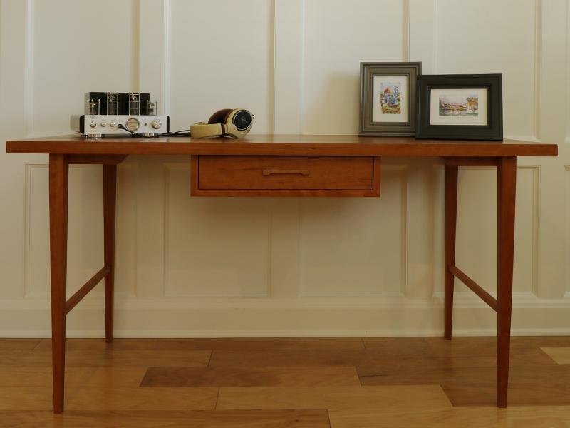 Modern solid wood cherry desk