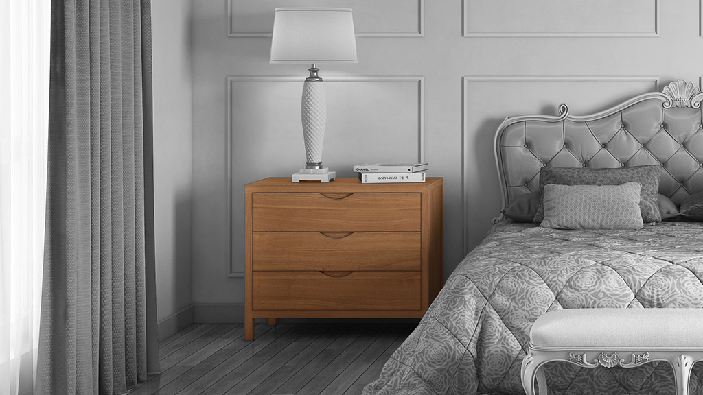 Series 353 Fine Furniture Dresser in an luxury bedroom
