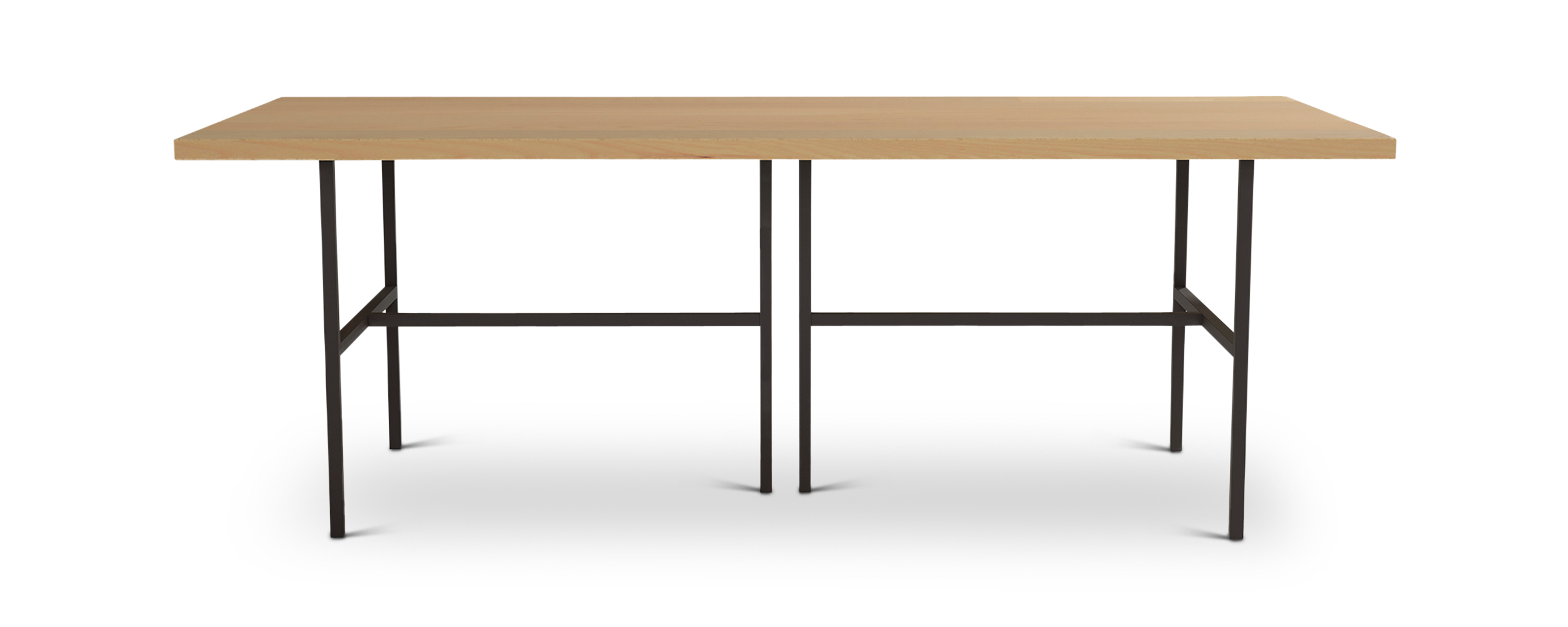 Series 828 black metal and wood table