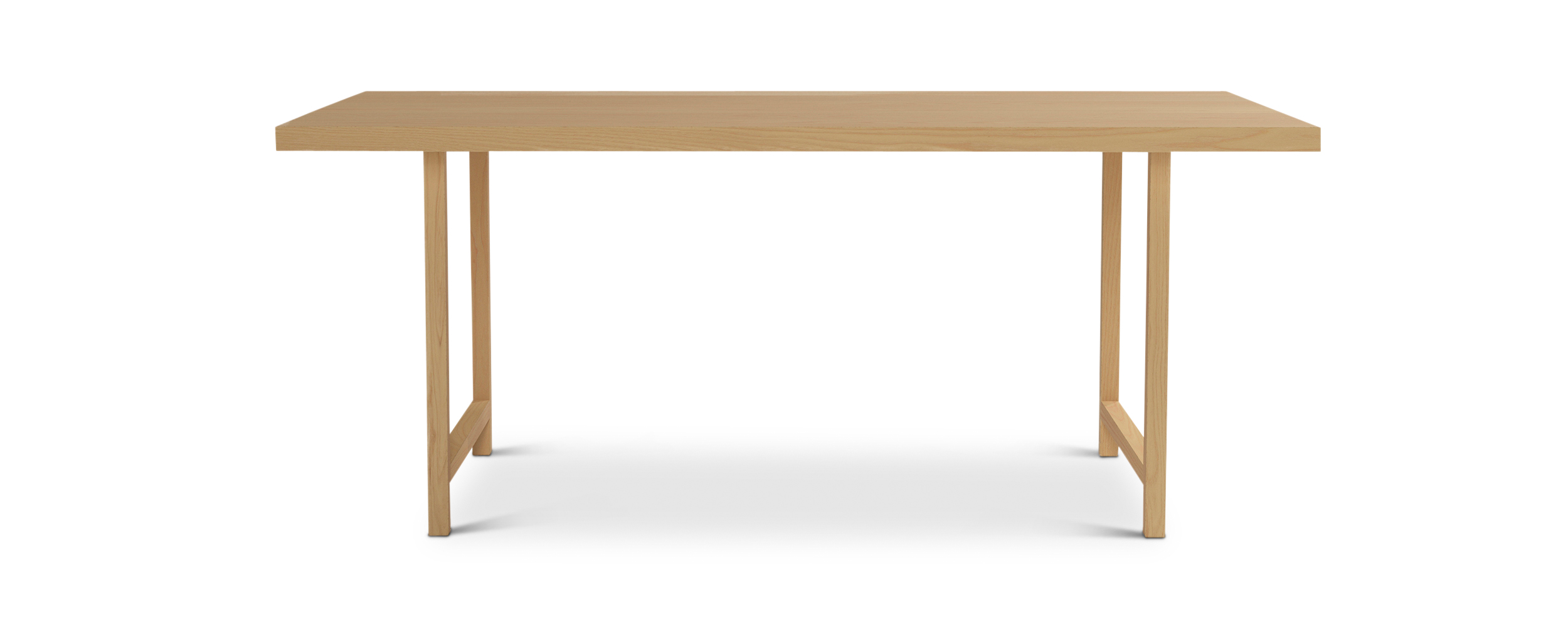 "Series 171 72"" Minimalist Nordic Furniture ash dining table"