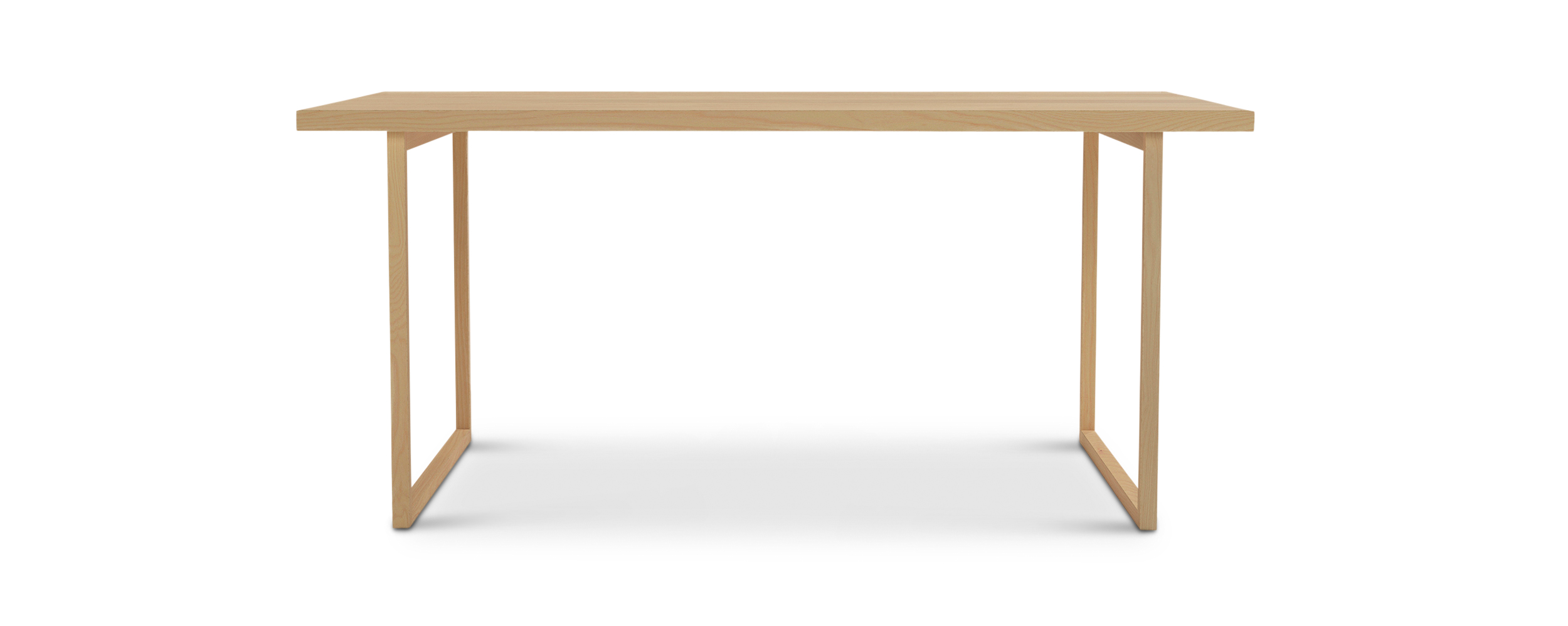 "Series 272 66"" modern danish furniture table with square legs"