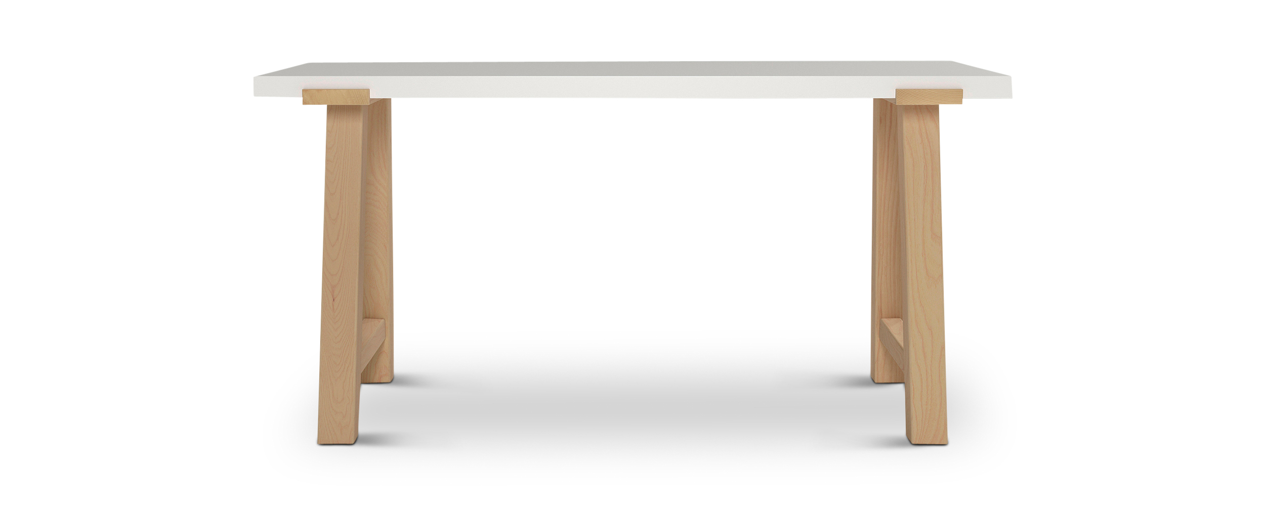 "Pulten modern scandanavian desk with solid wood legs 60"" long"