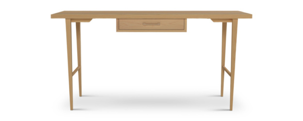 Ash Wood Office Desk With One Drawer