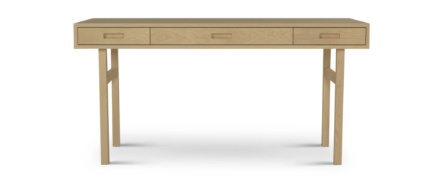 Three Drawer Modern Desk Made With Solid Woods