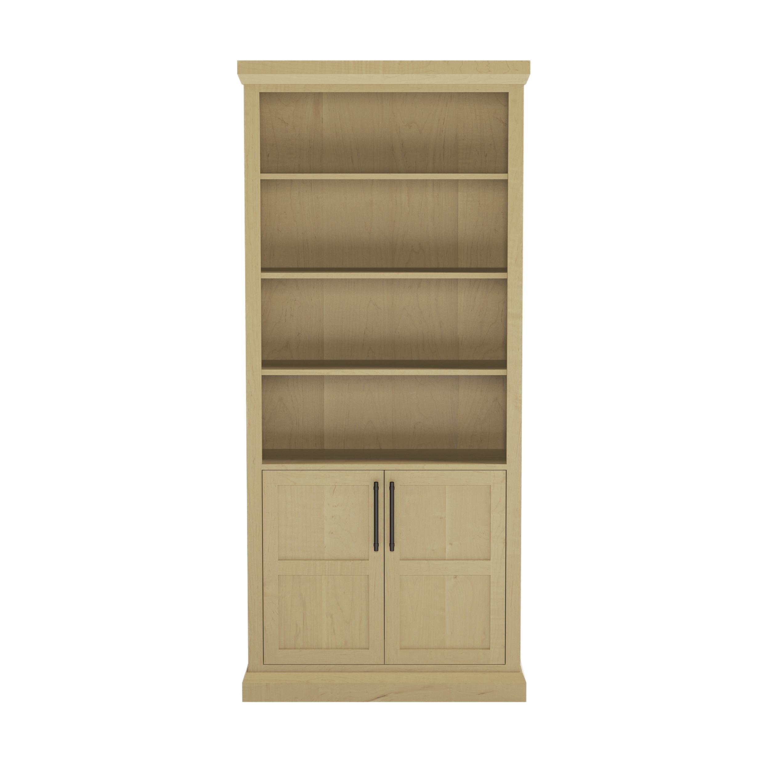 Bureau 38″ Wide Bookshelf With Doors
