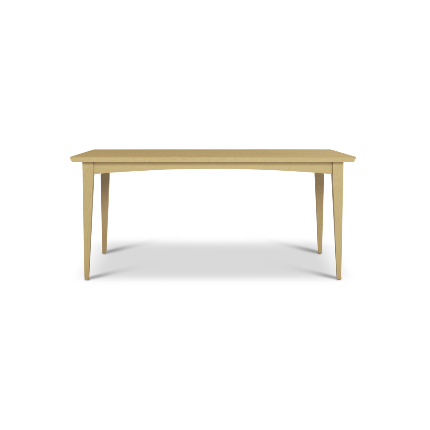 Solid Maple mid-century modern dining table