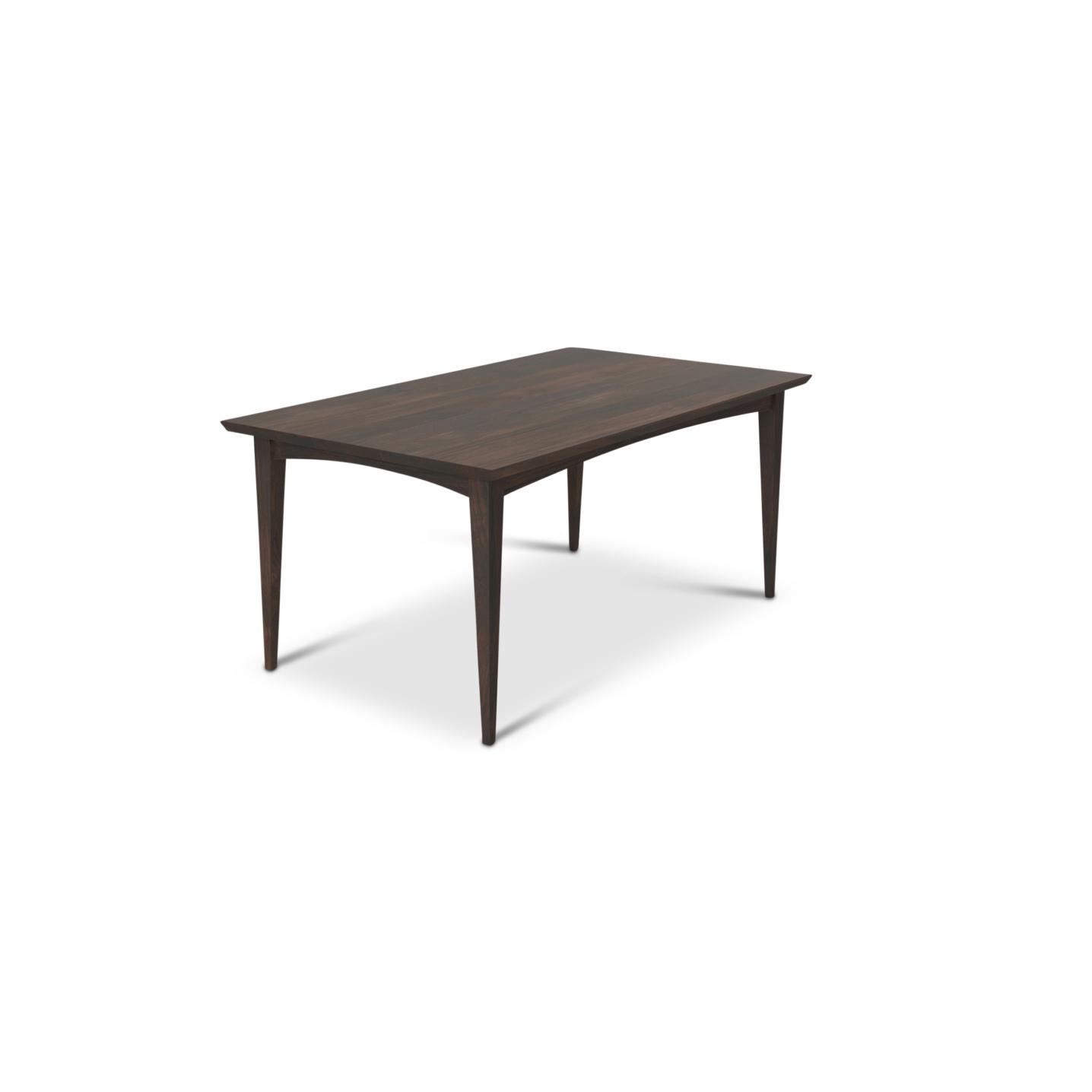 "Solid walnut 66"" mid-century modern table"
