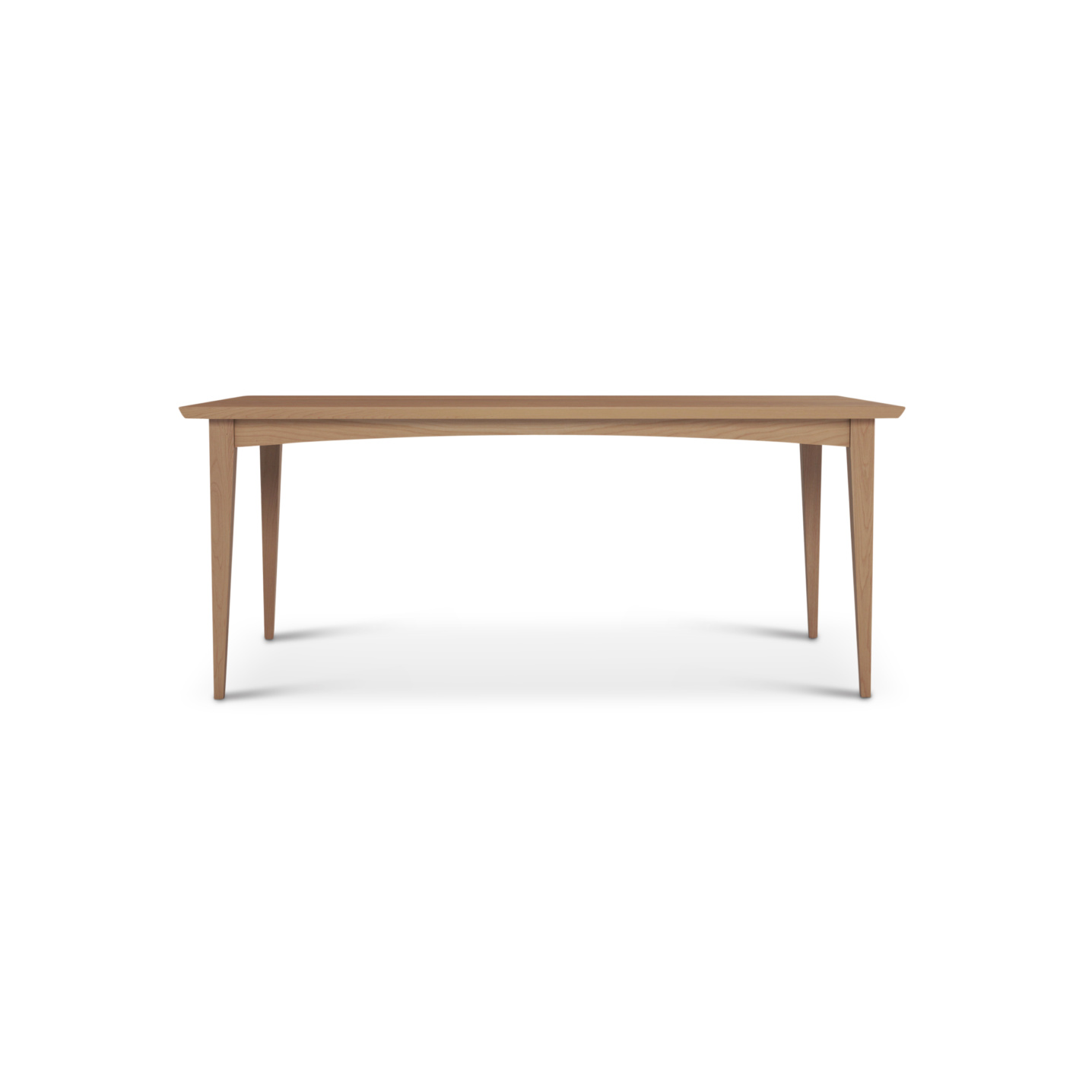 6 foot cherry wood table with tapered solid wood legs