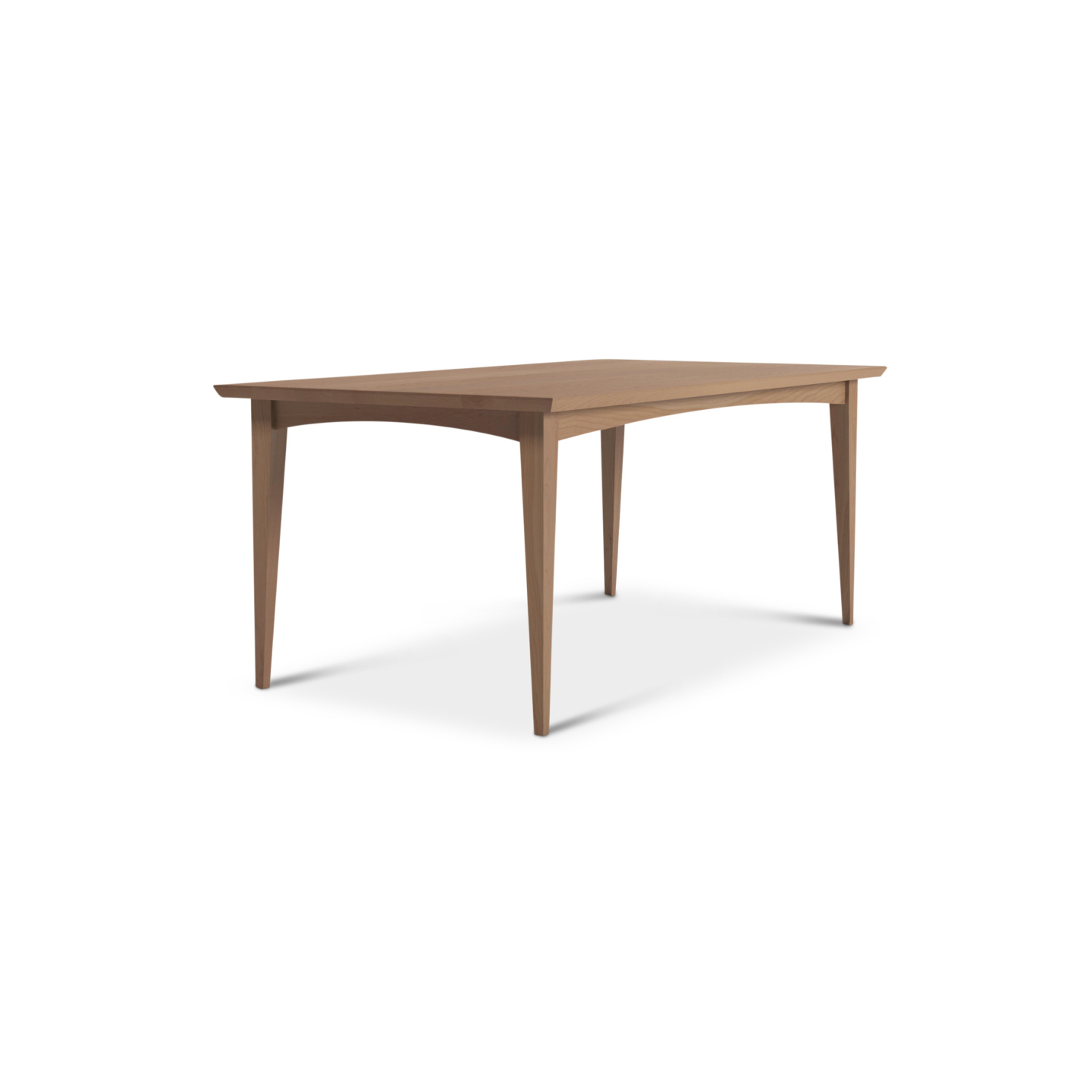 """72"""" solid cherry mid-century modern dining table"""