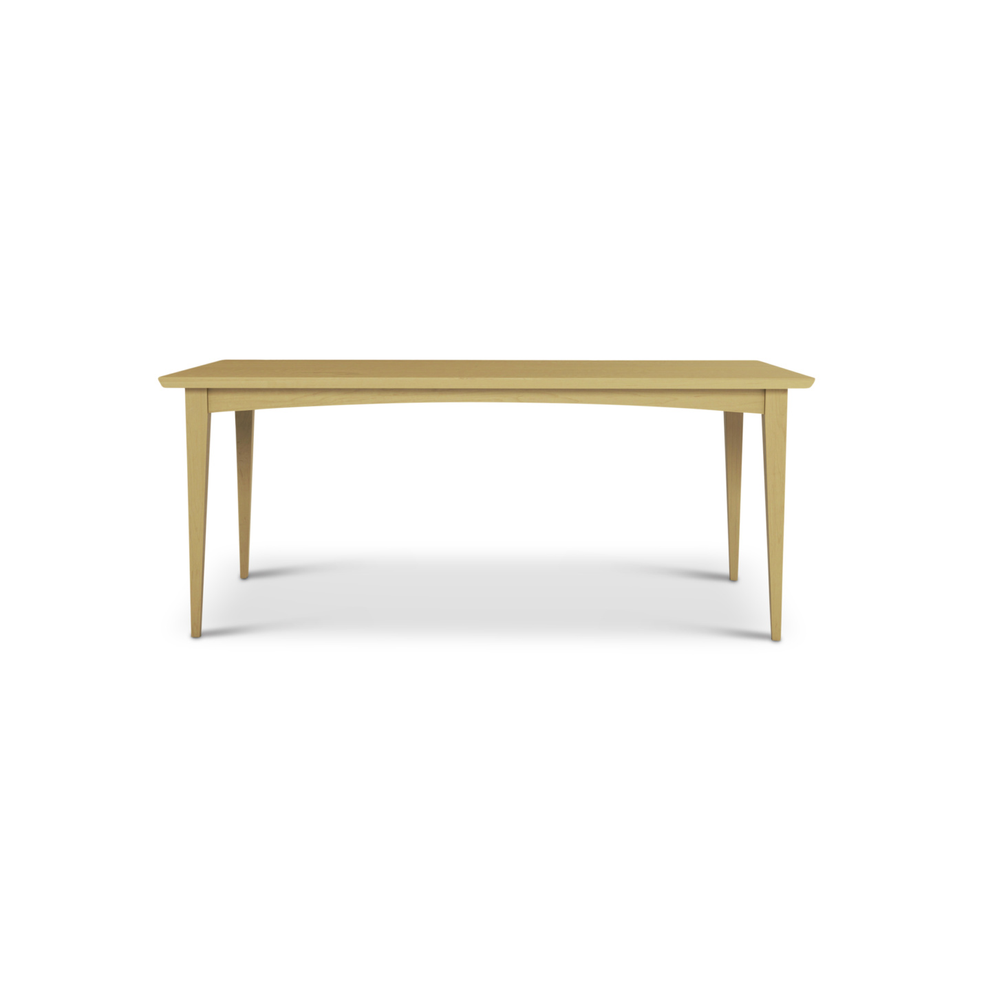 """Solid maple 72"""" mid-century modern table"""