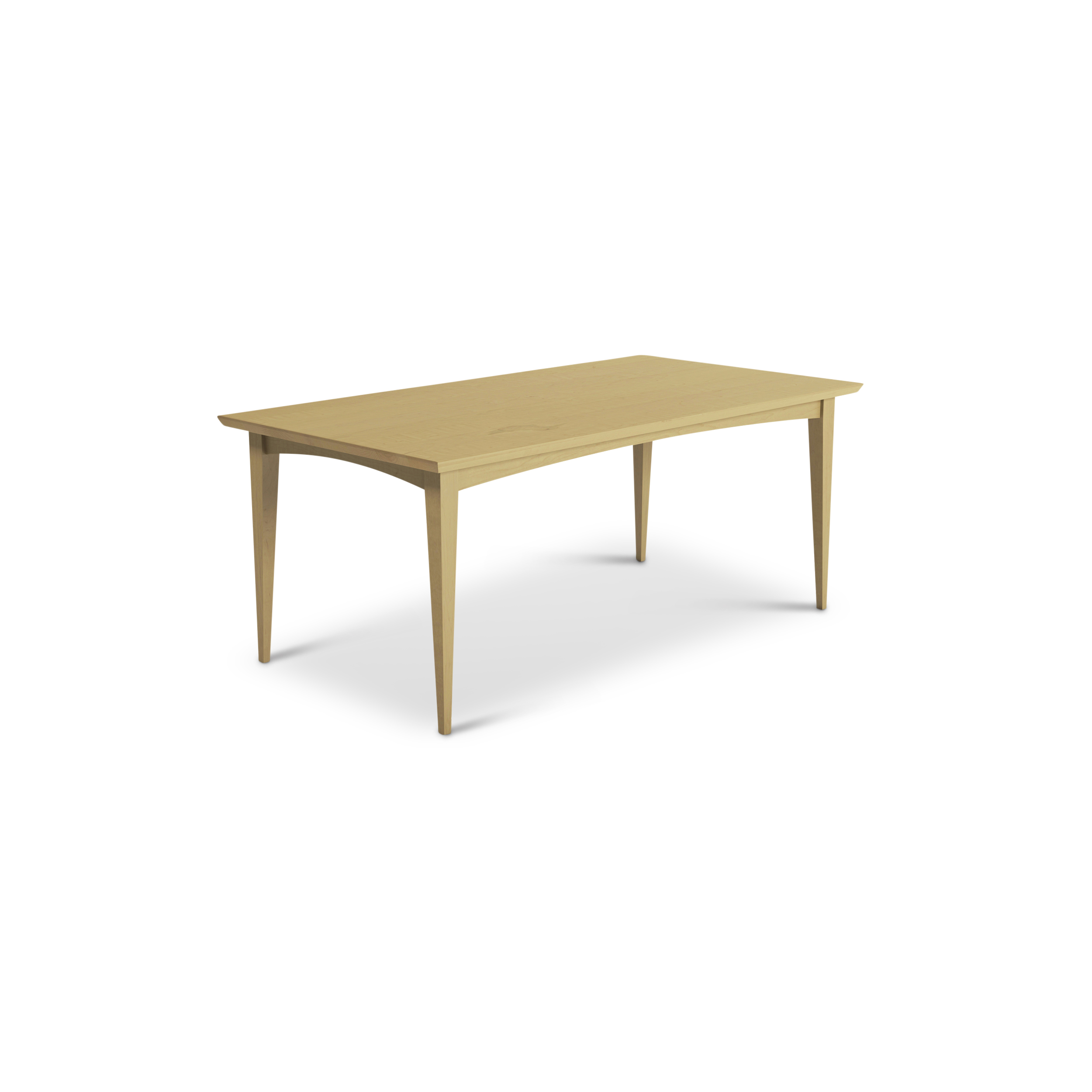 6 Foot Maple Mid-century Modern Dining Table