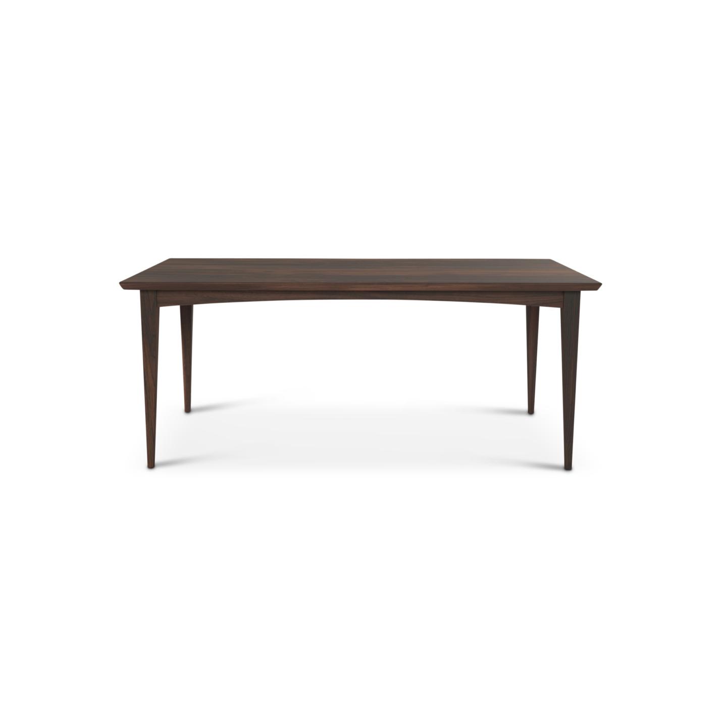 Solid walnut mid-century modern table