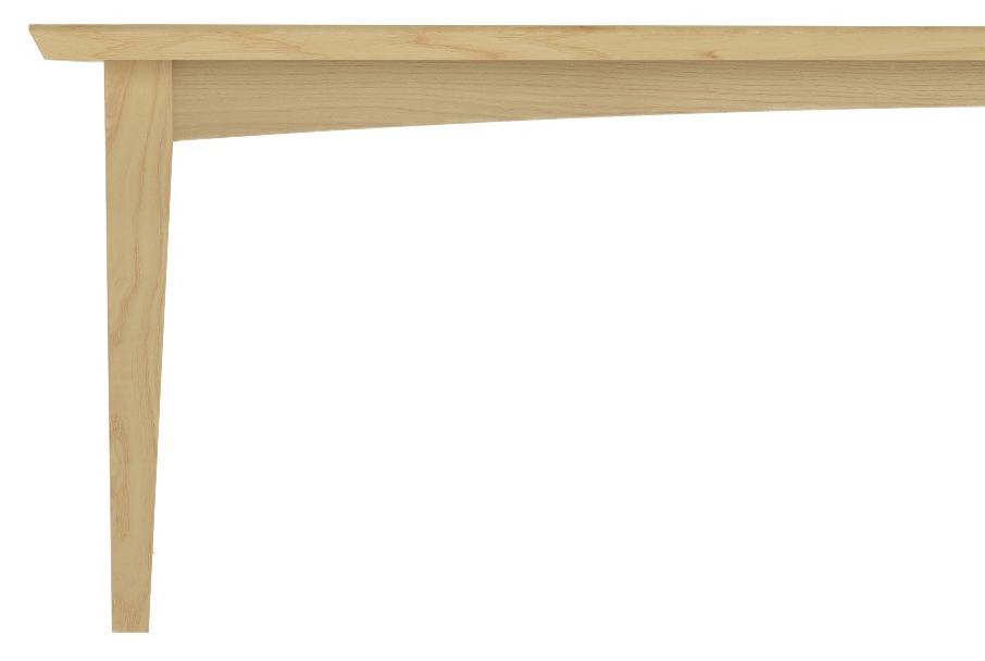 Furniture Table with Tapered Legs made from Ash Wood
