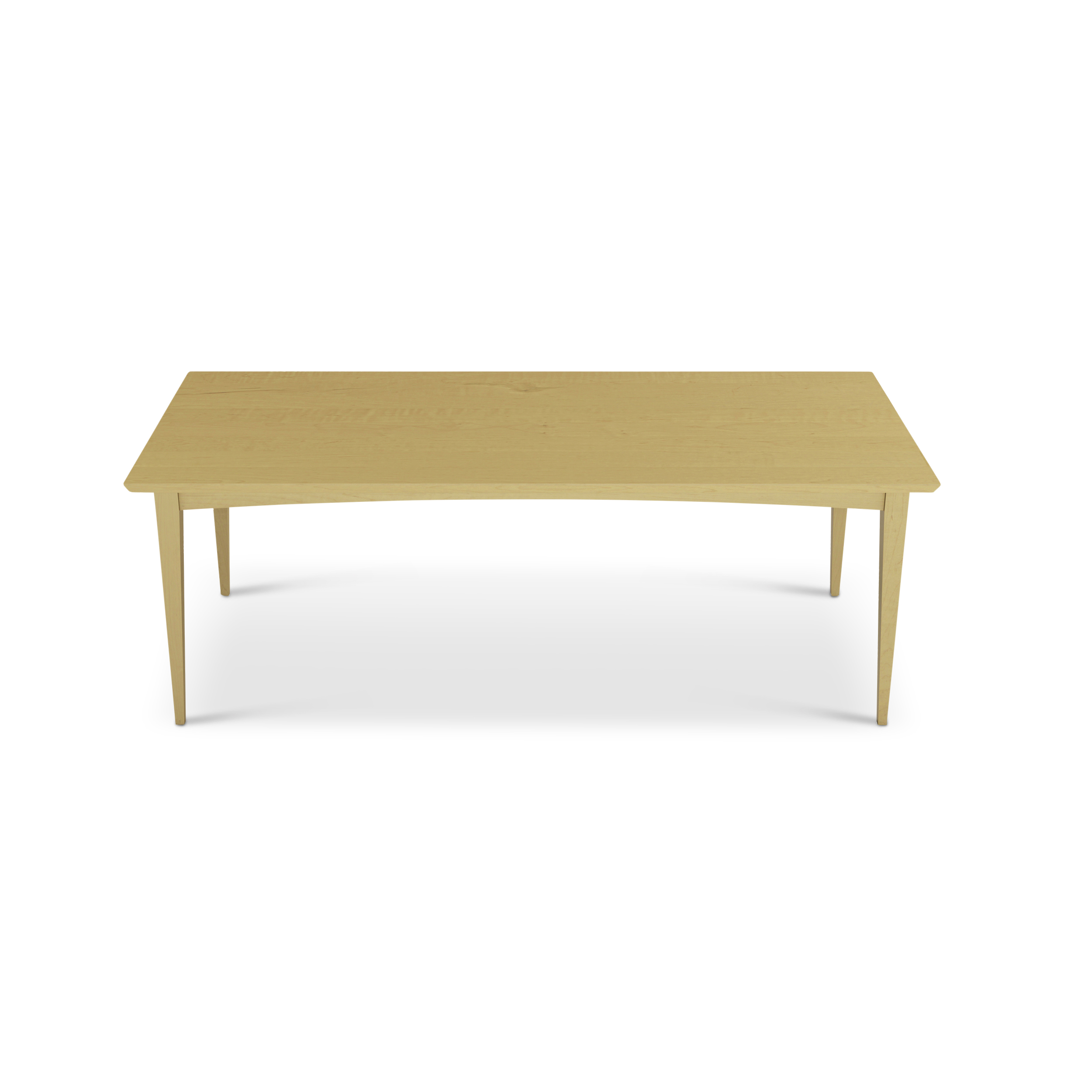 Tailored Solid Maple Mid-century Modern Dining Table