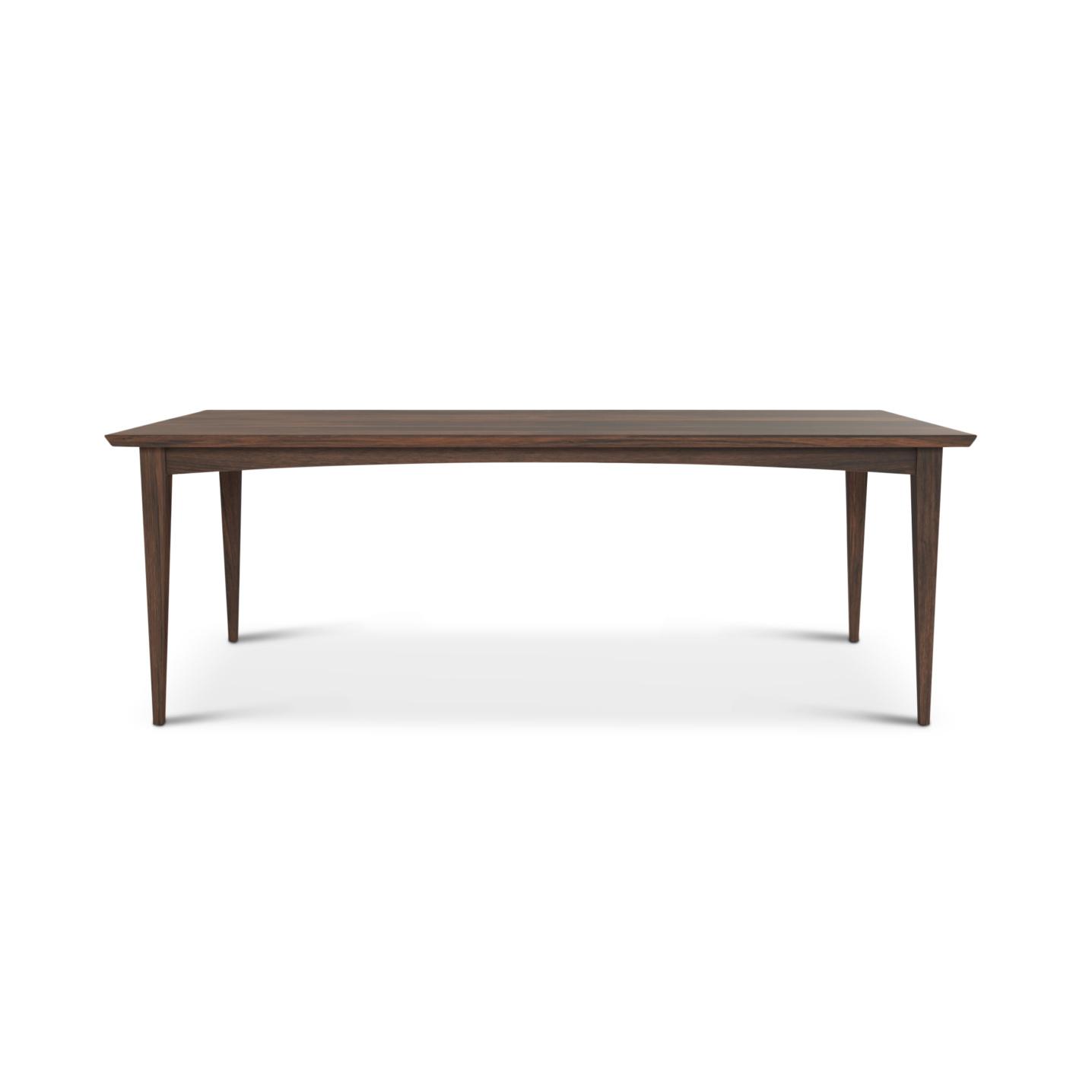 "84"" solid walnut mid-century modern table"