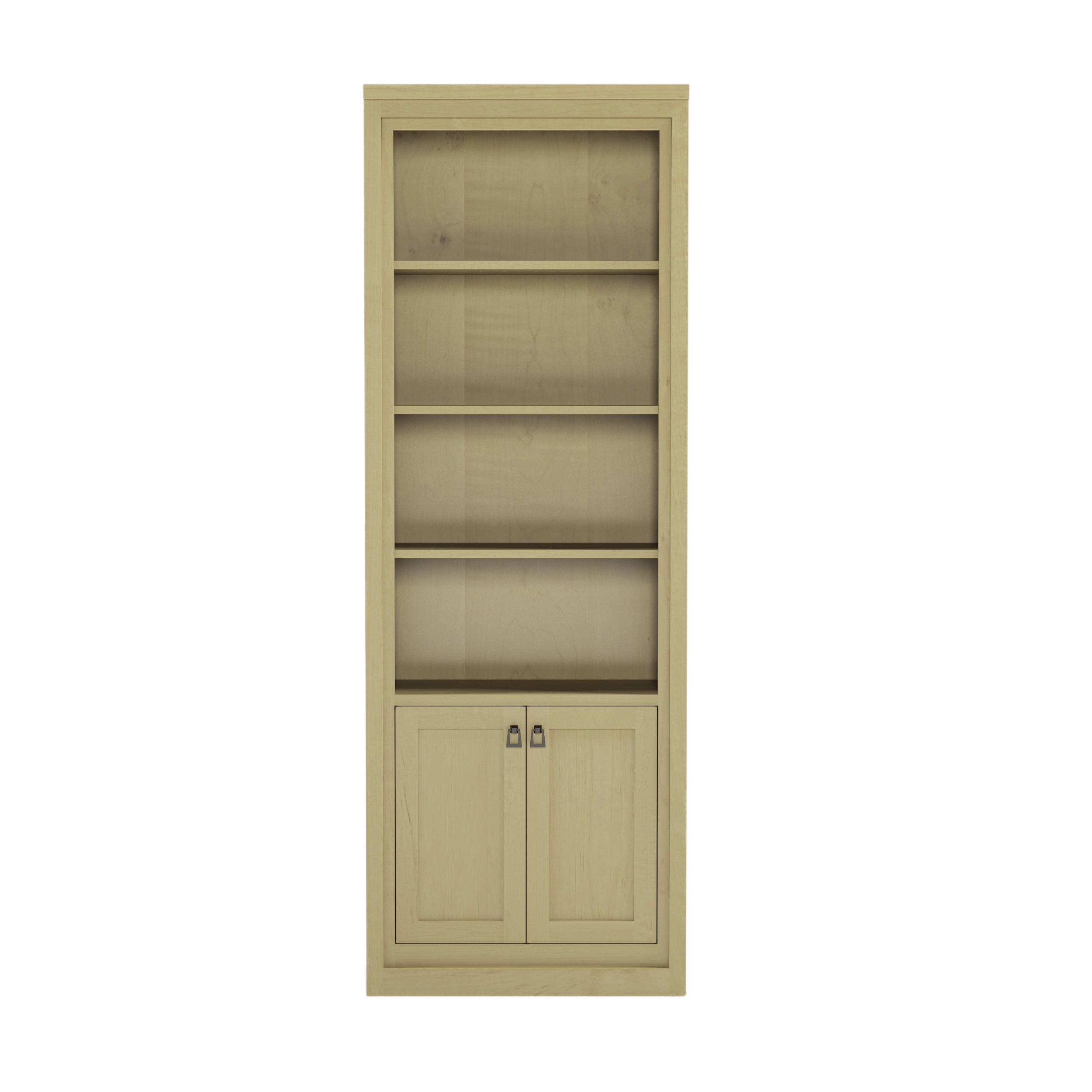 Framed_44 28″ Wide Bookshelf With Doors
