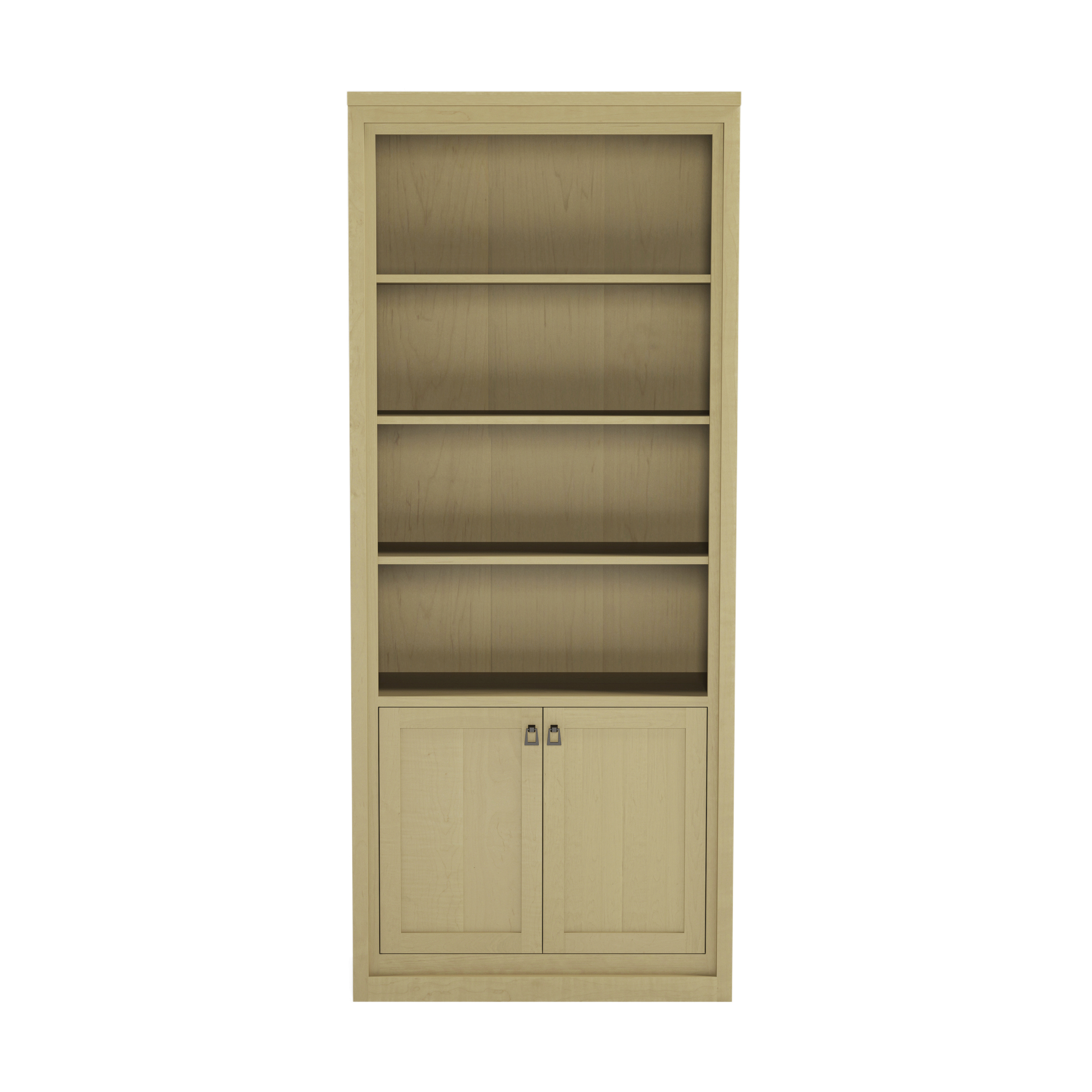 Framed_44 36″ Wide Bookshelf With Doors