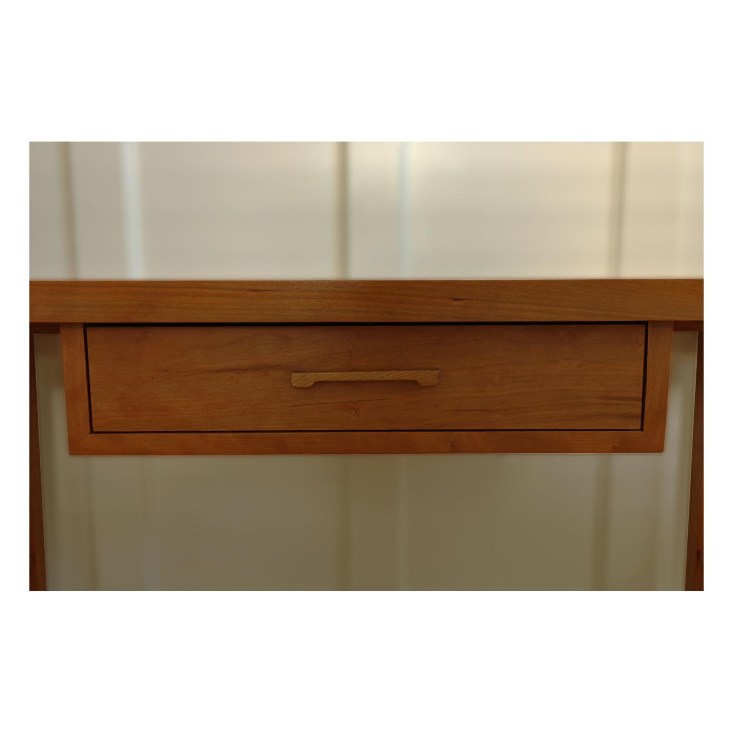 Hand cut cherry drawer pull
