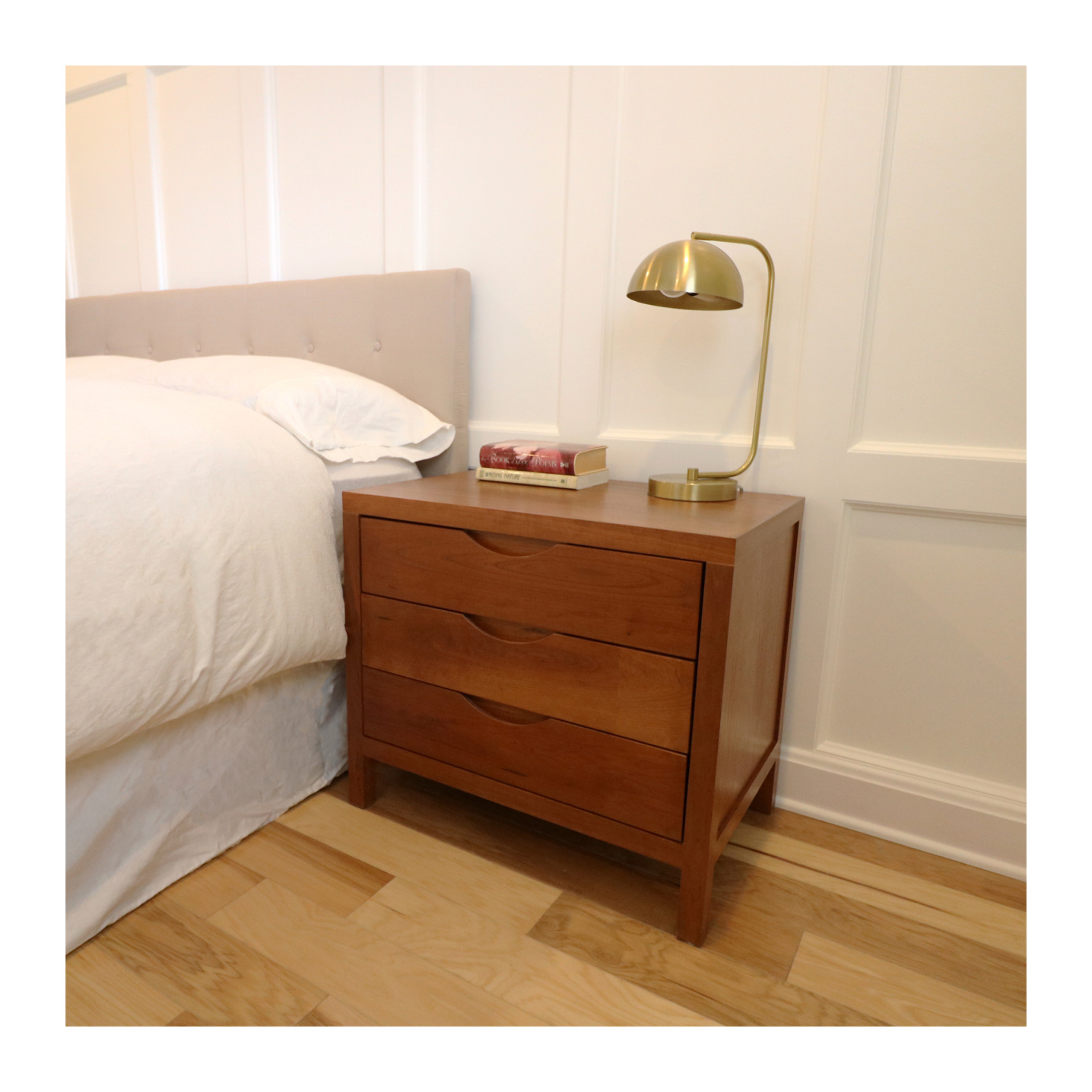 Solid cherry nightstand