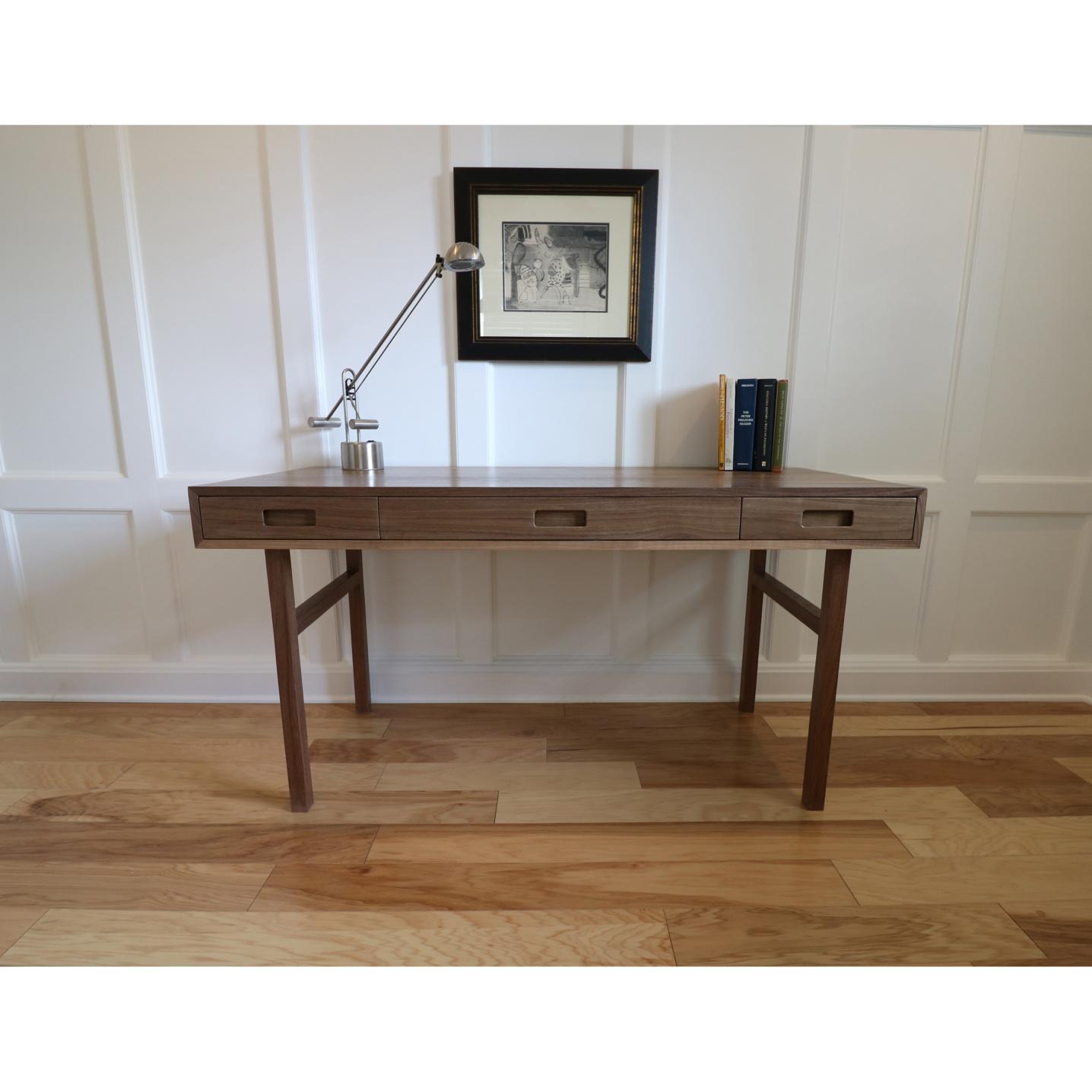 Fine furniture office desk solid walnut woods