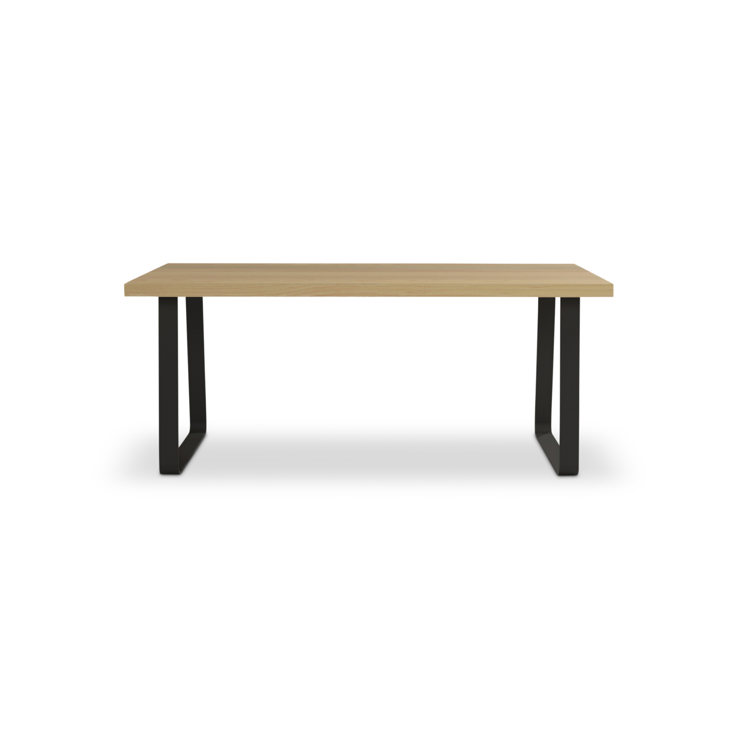 """72"""" ash table with black legs"""