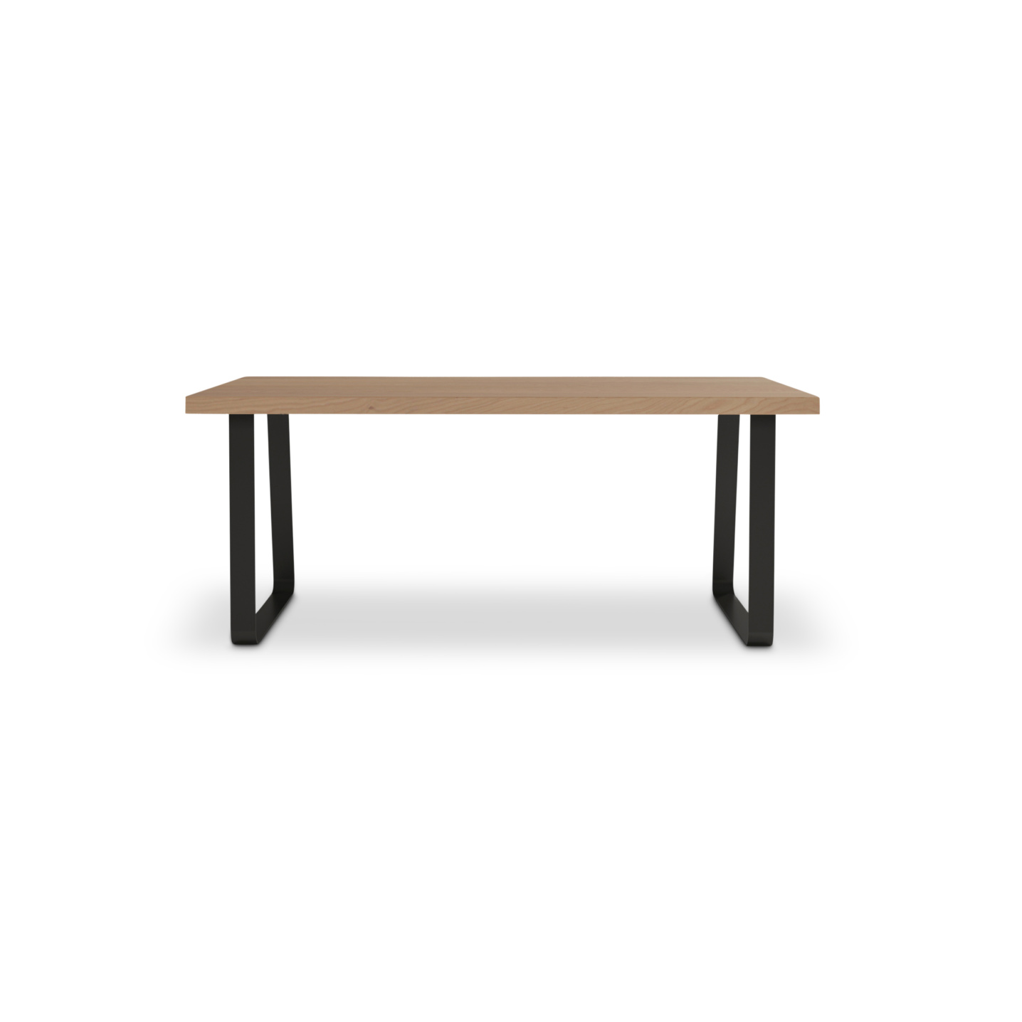 Swedish cherry wooden table with metal curved legs