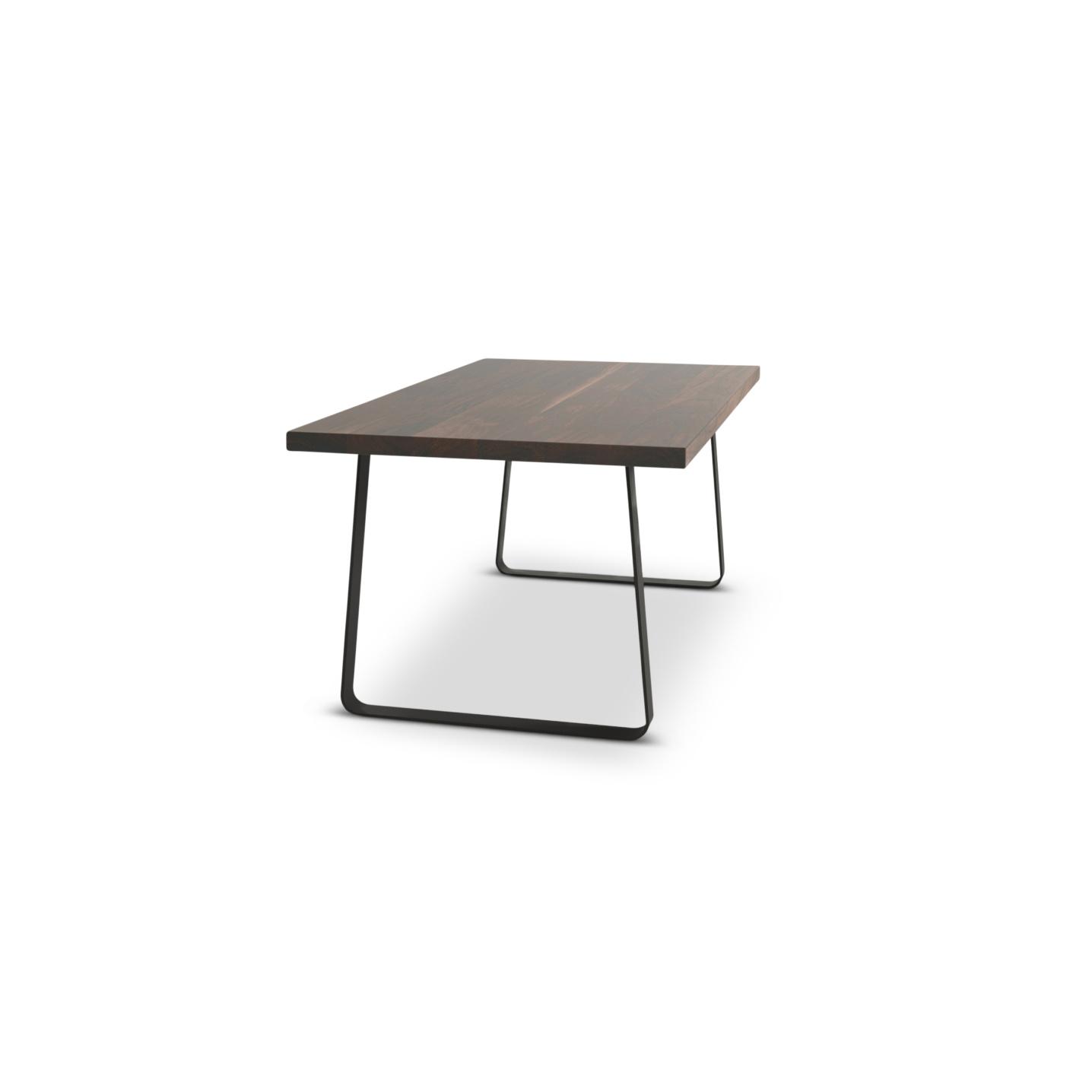 Custom table with walnut wood top