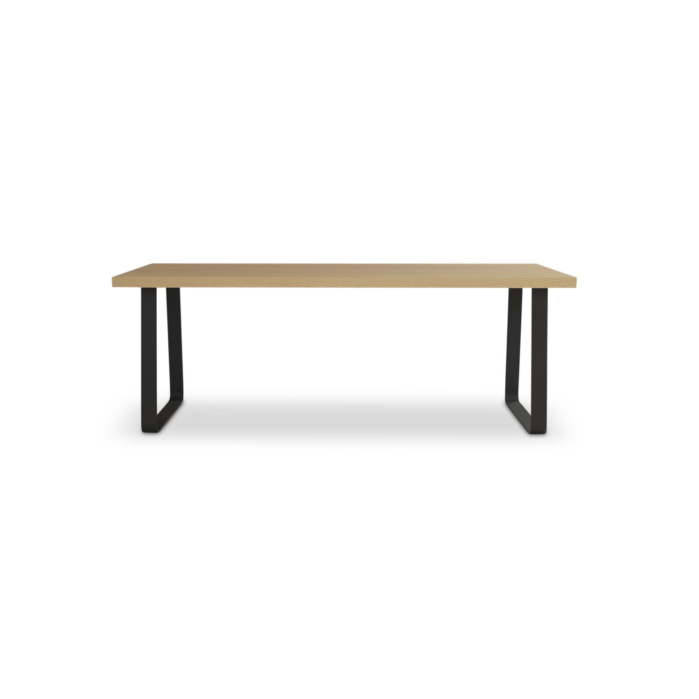 "84"" Scandinavian ash table"