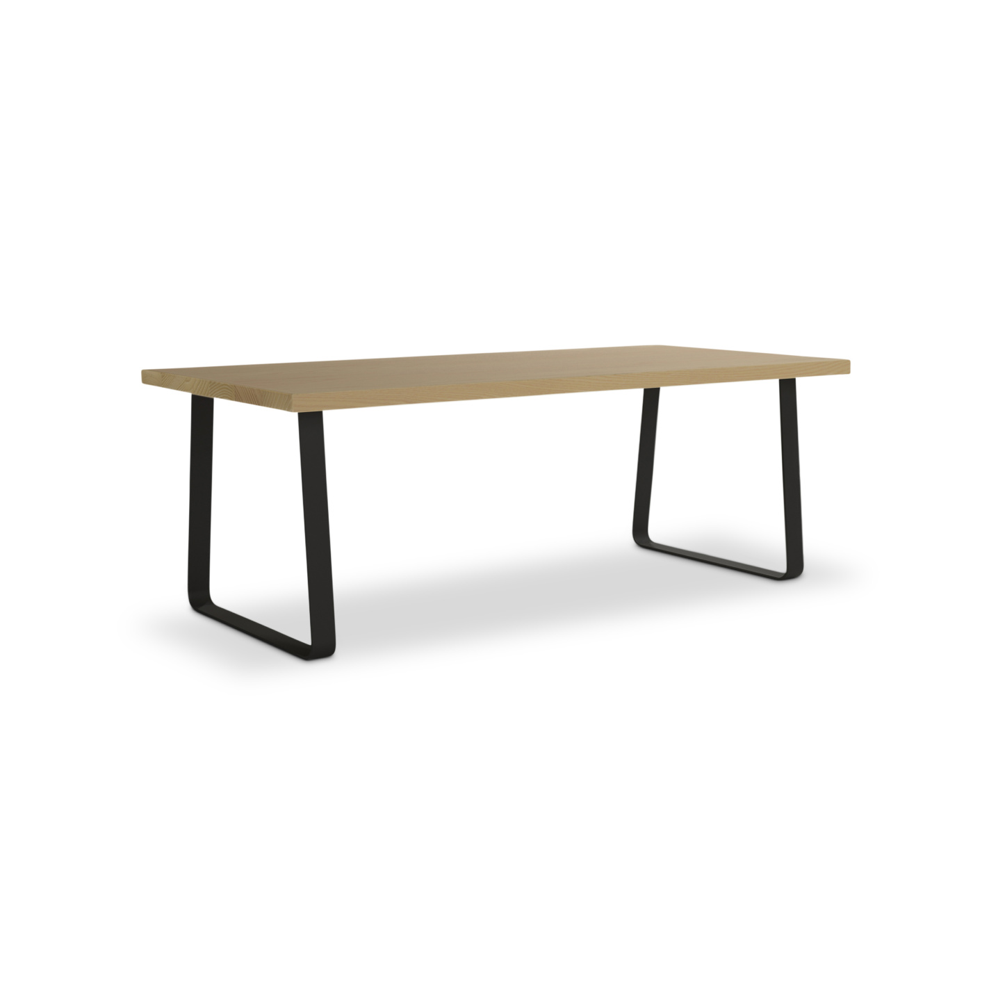 Ash wooden dinning table with metal legs