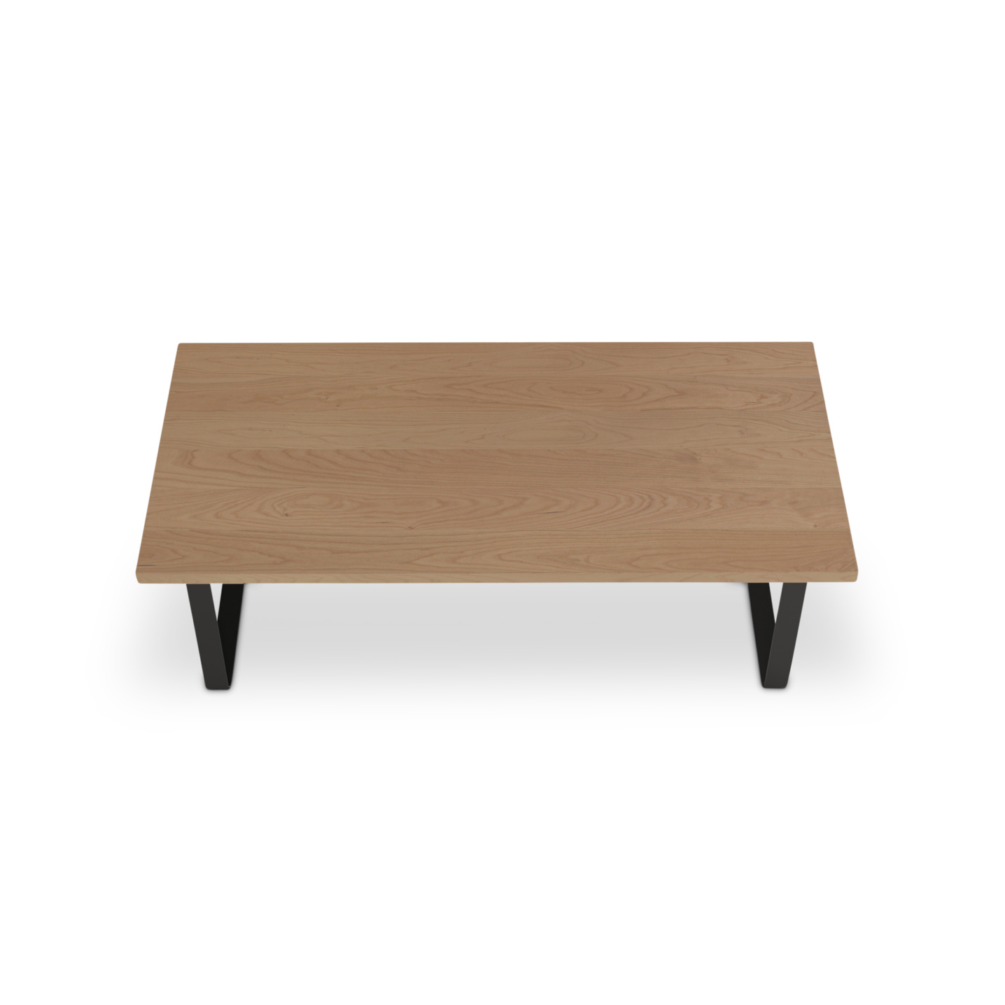 Custom cherry table with metal legs