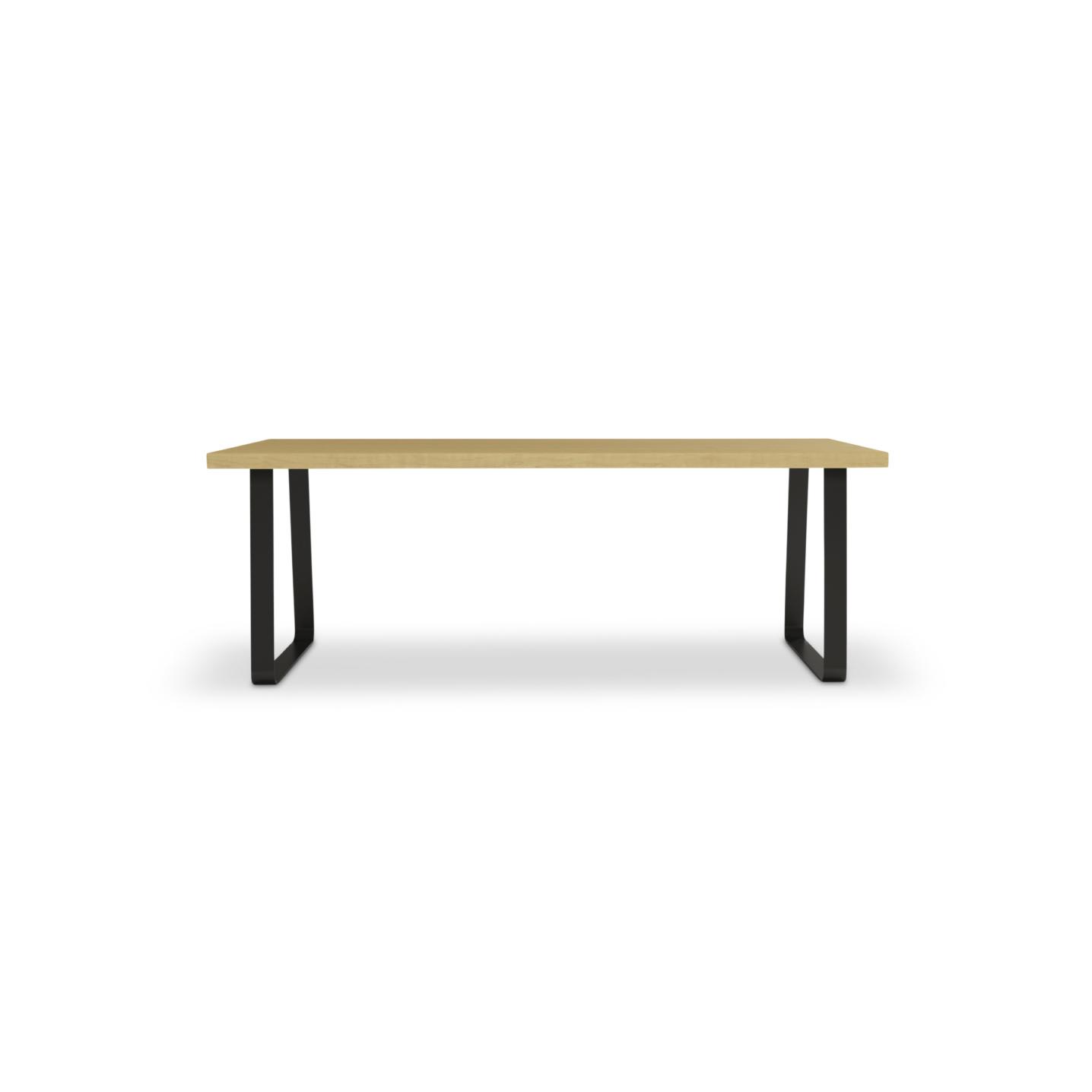 "84"" contemporary custom maple table"