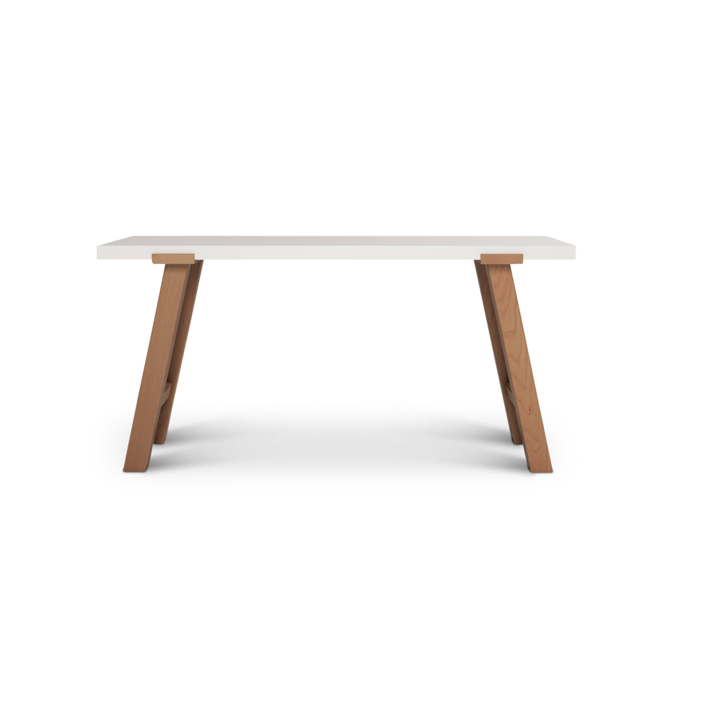 Solid wood contemporary office desk