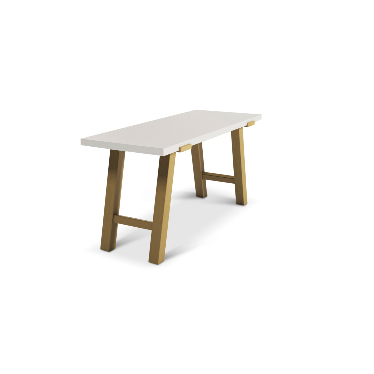 Modern 60 inch maple desk