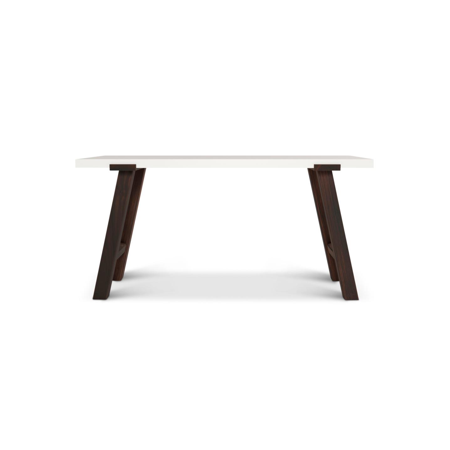 Five foot long contemporary walnut desk