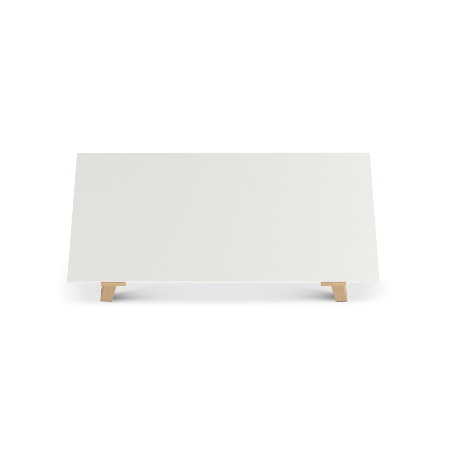 Solid white maple top office desk