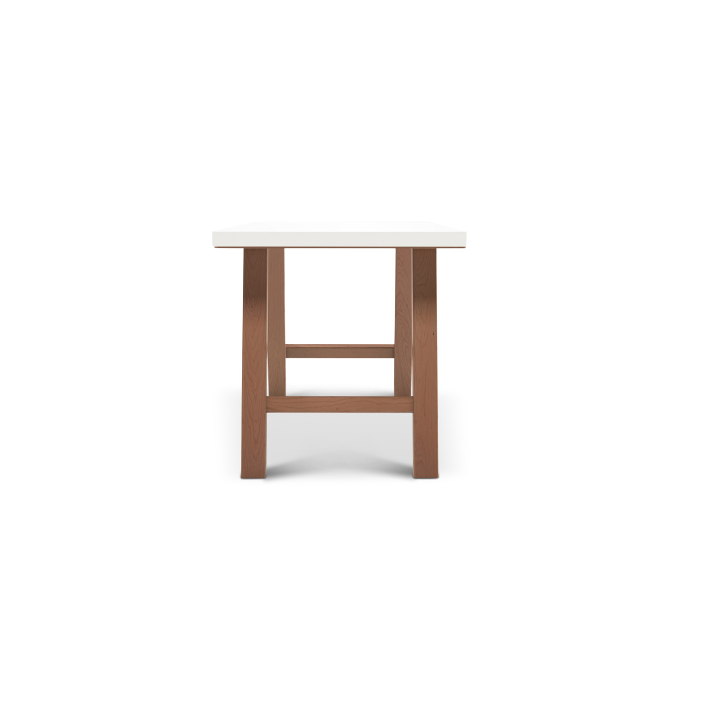 Cherry wood desk with white maple top