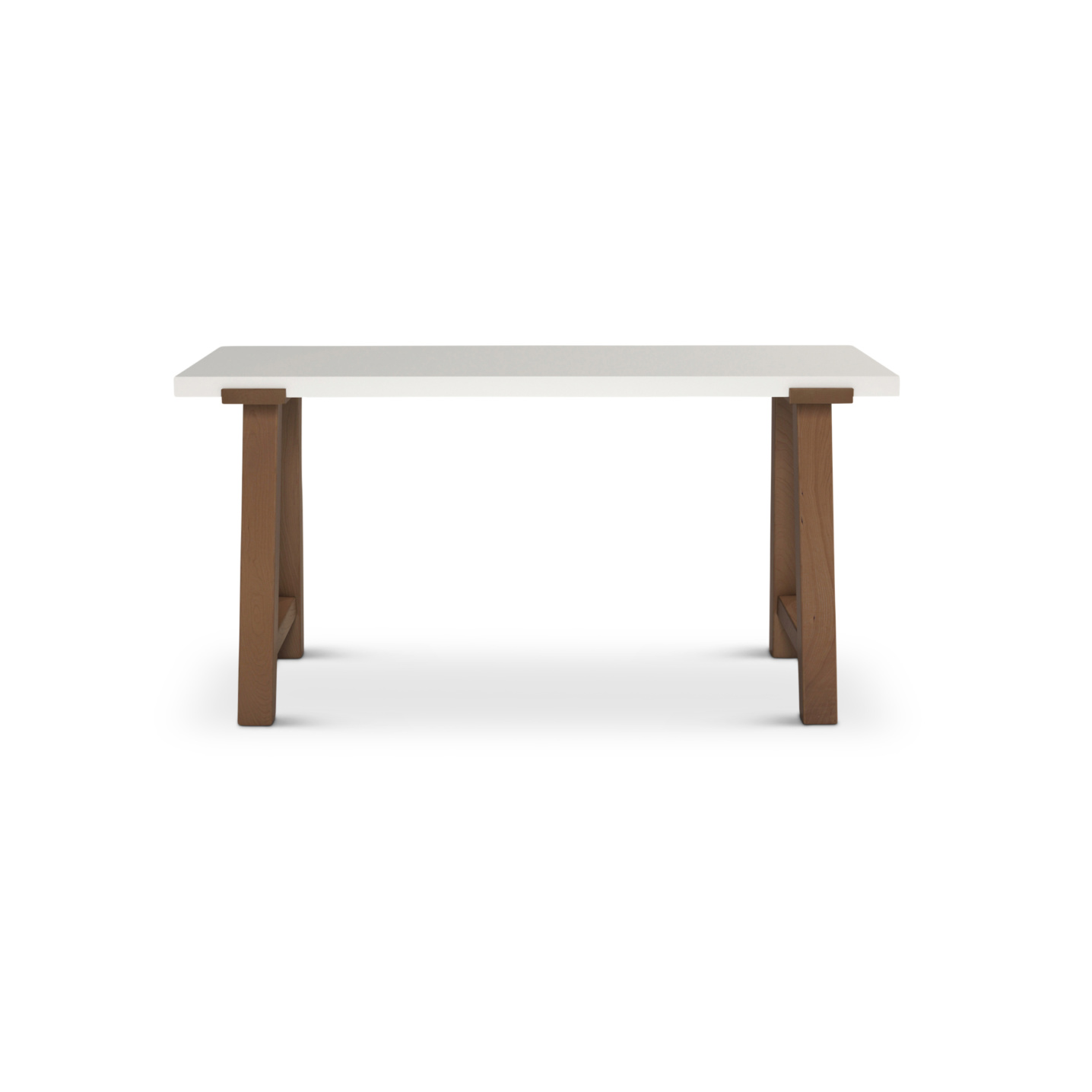 Solid cherry wood desk with white maple top