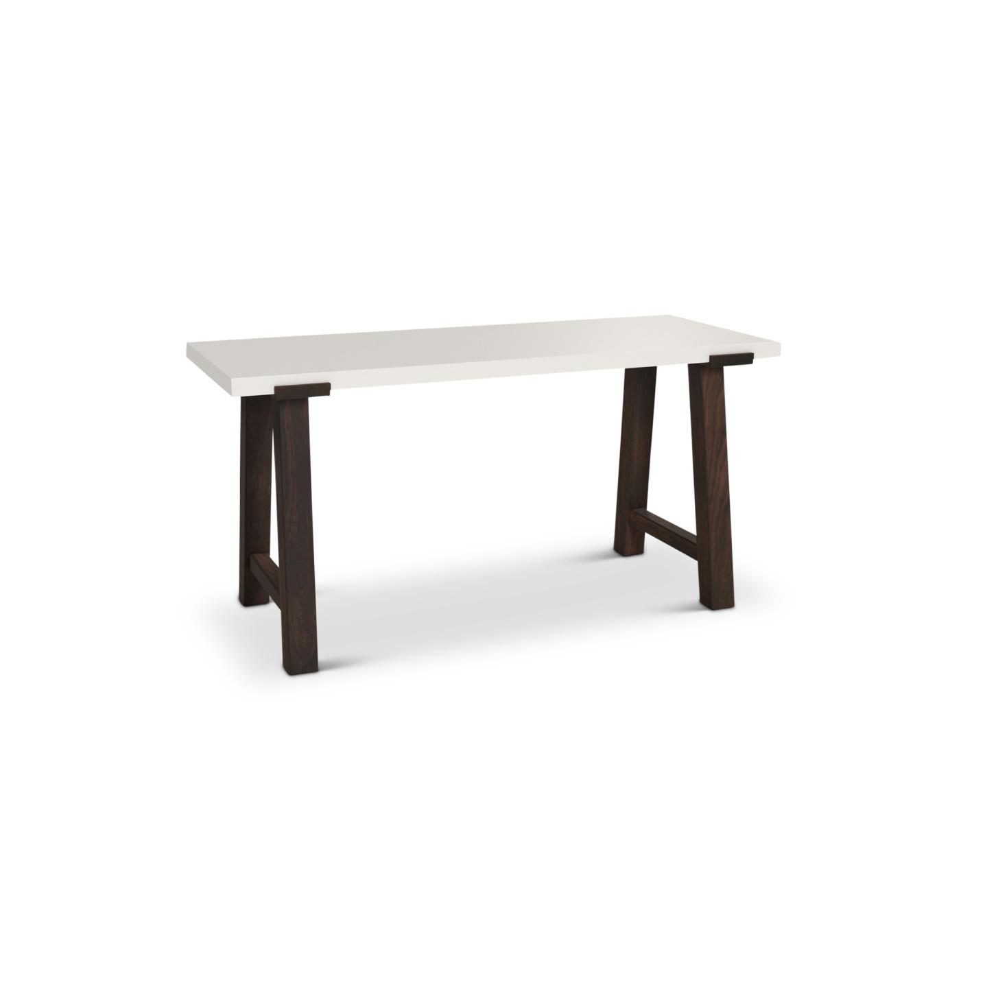"""White lacquered 60"""" desk"""