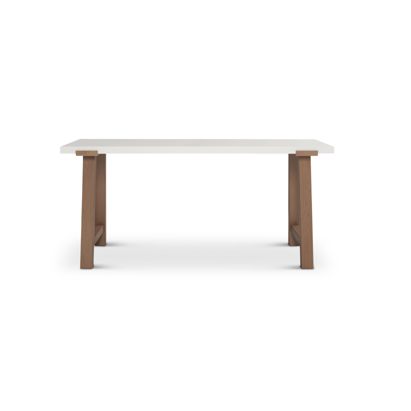 White lacquered top on a modern desk