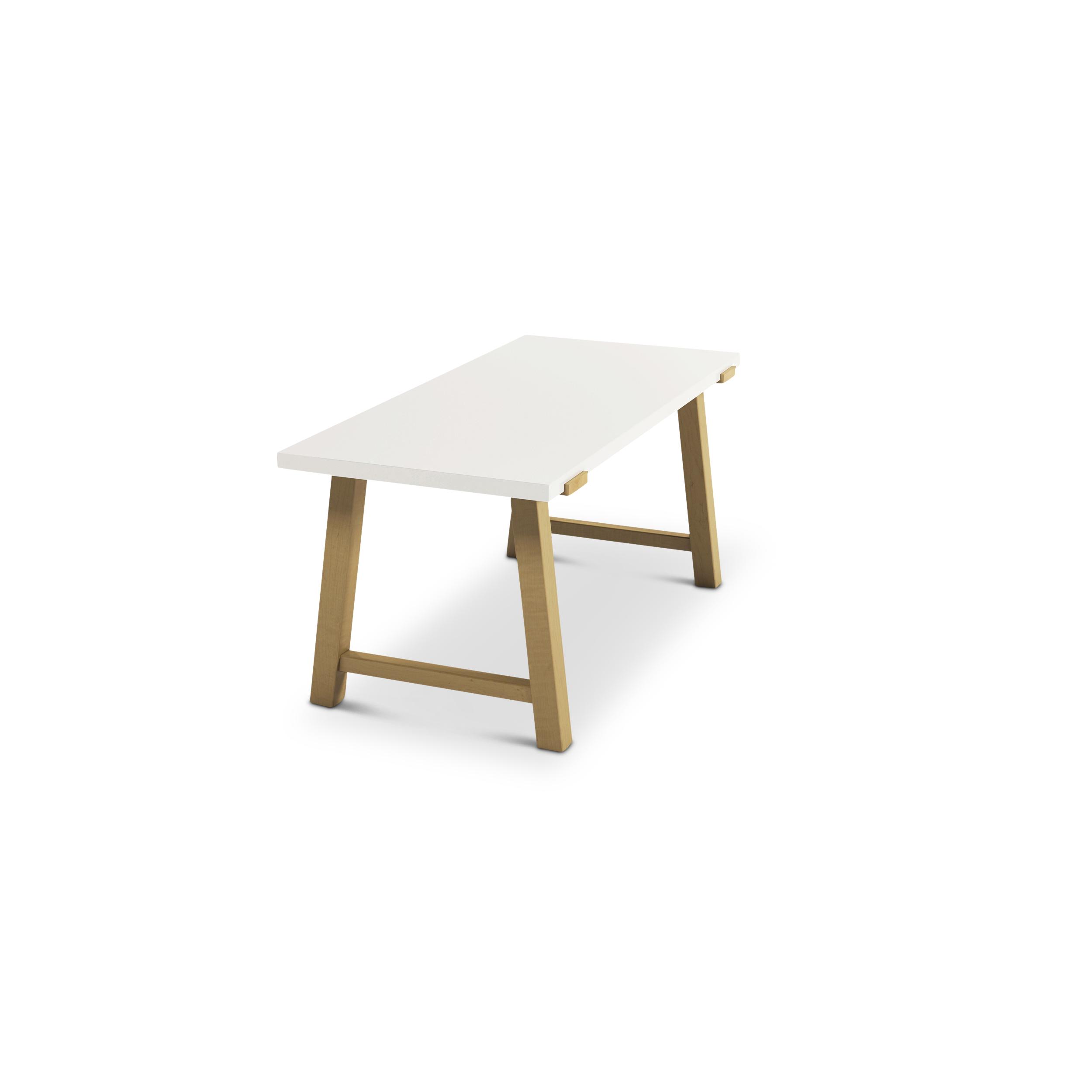 Maple Scandinavian Desk With Angled Legs