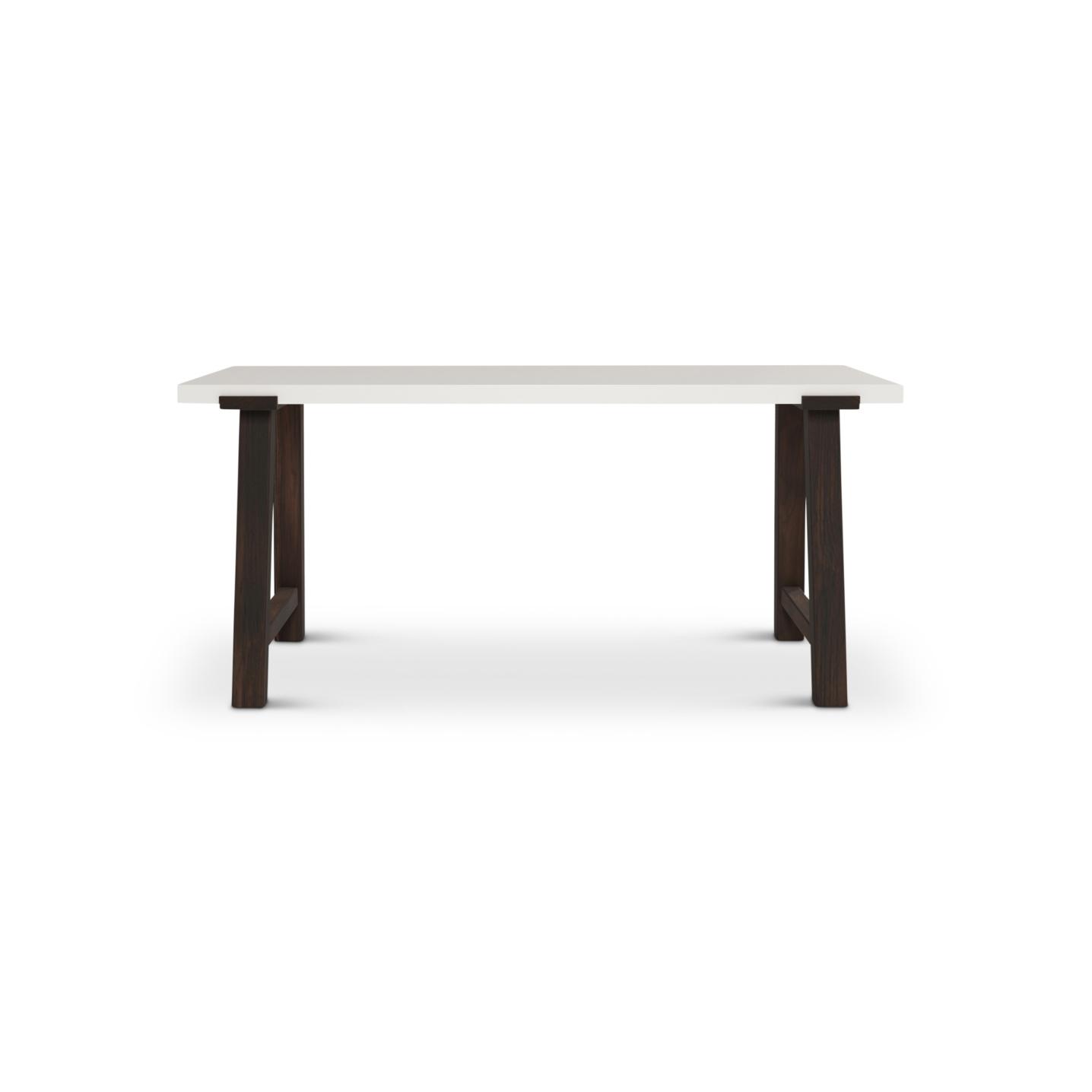 Putlen modern desk with a white top