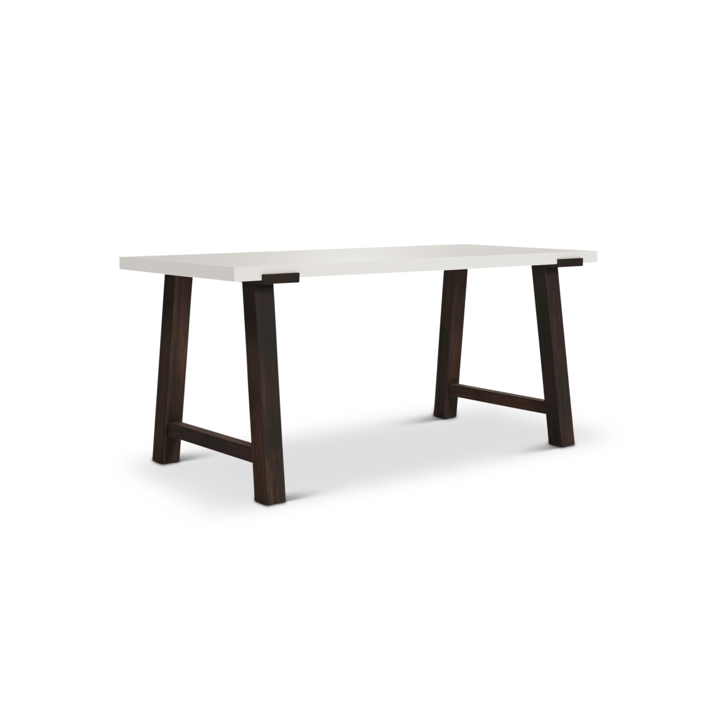 Pulten Desk with modern walnut legs