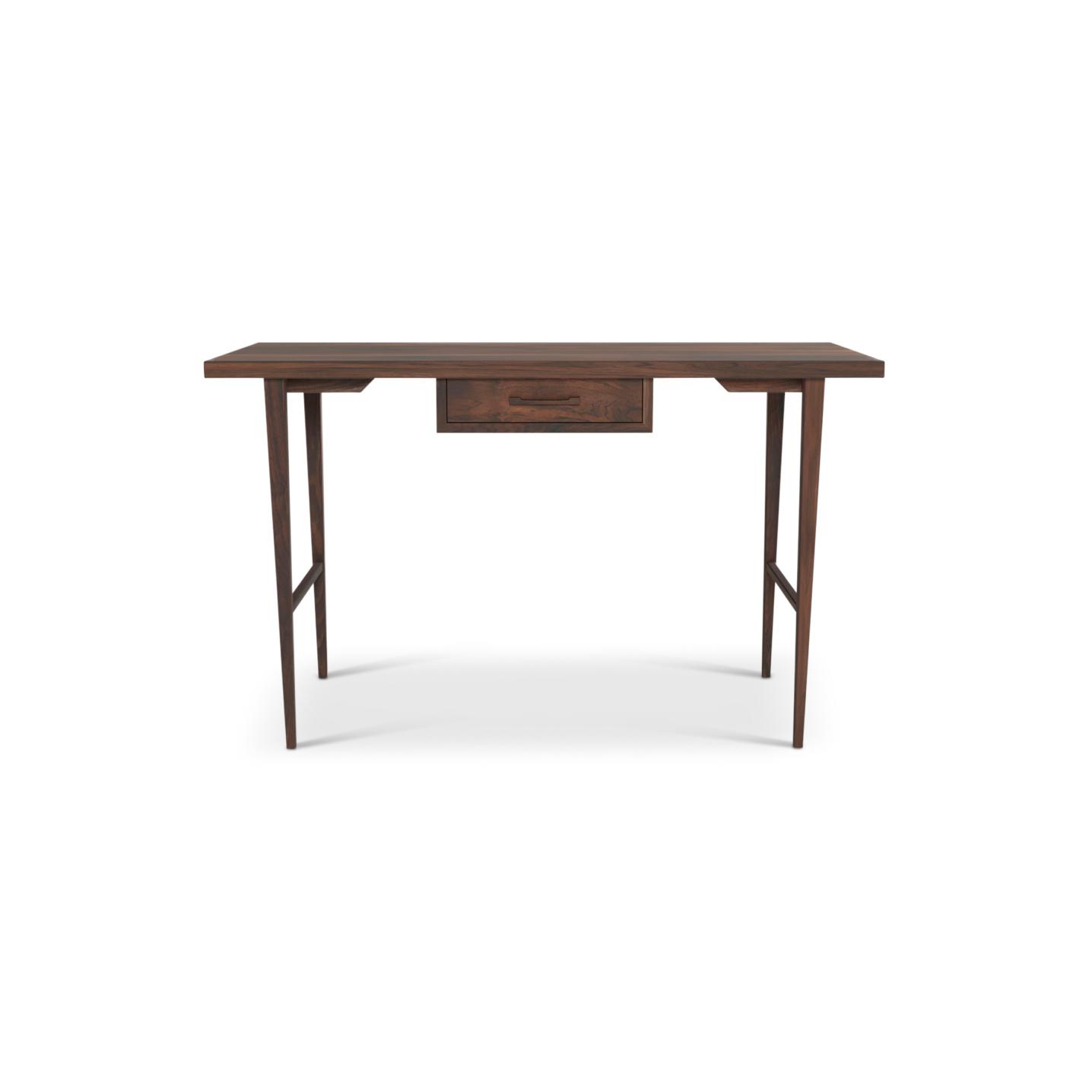 Walnut single drawer desk