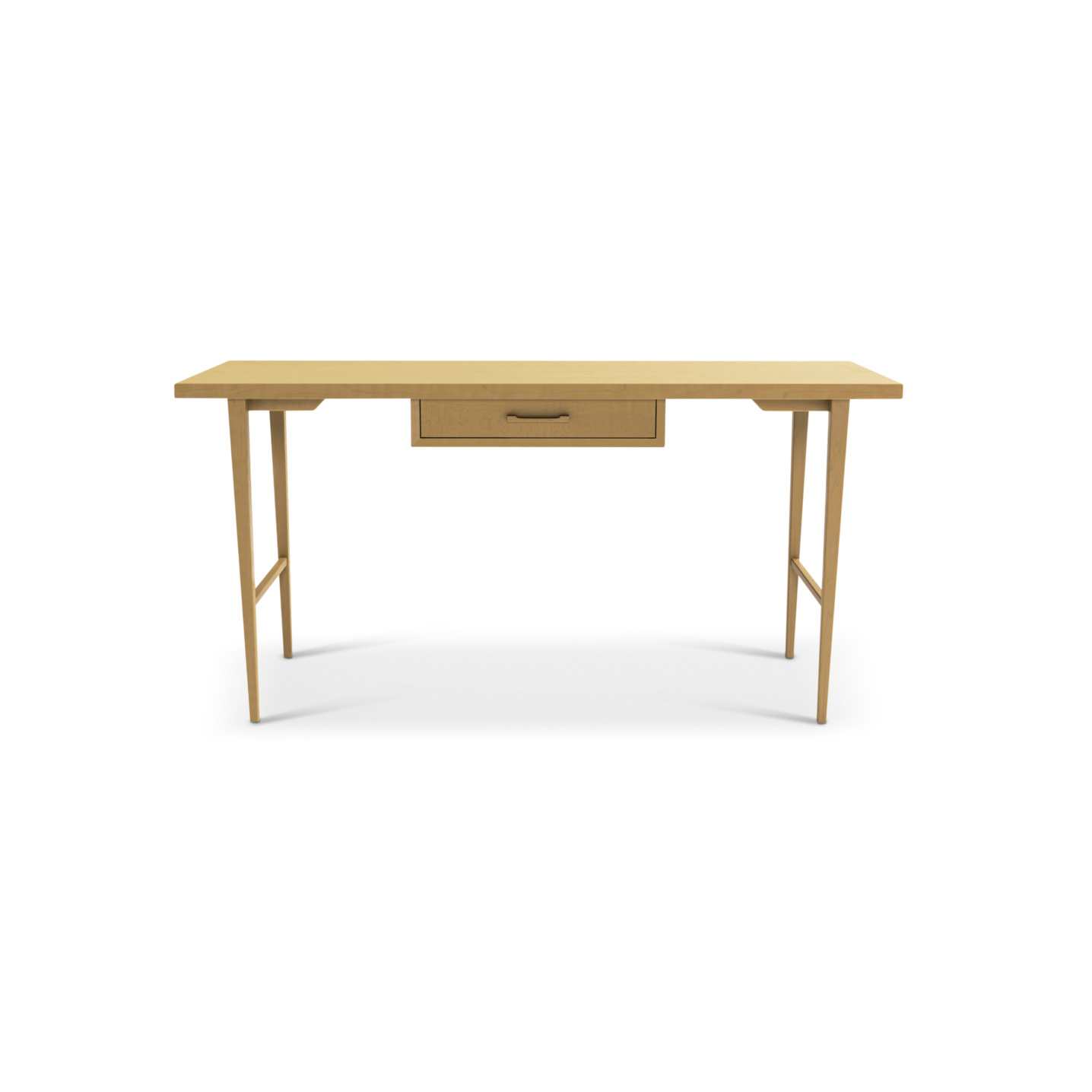 Solid maple Nordic Office desk