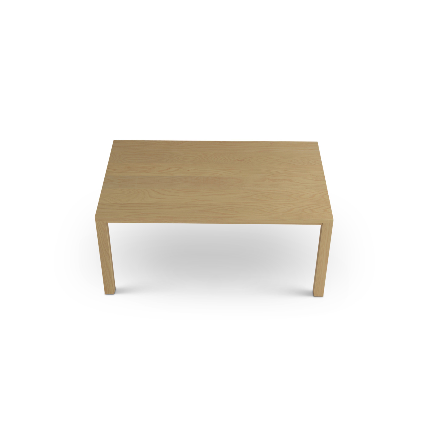 Solid Ash table with square legs