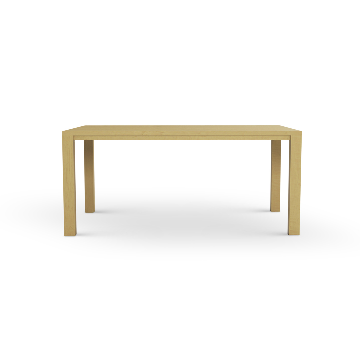 """66"""" Solid wood maple table"""