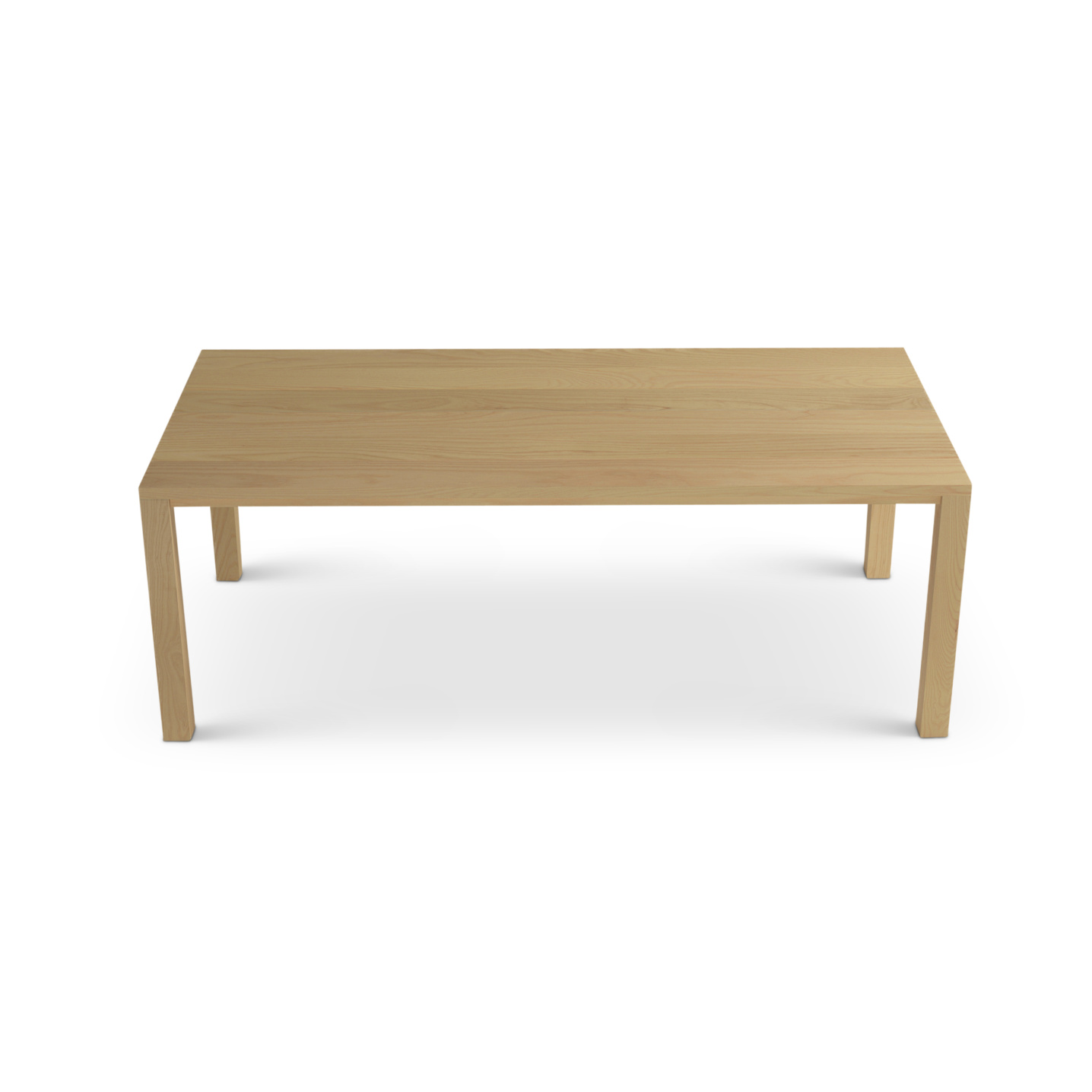 Ash planked solid wood table