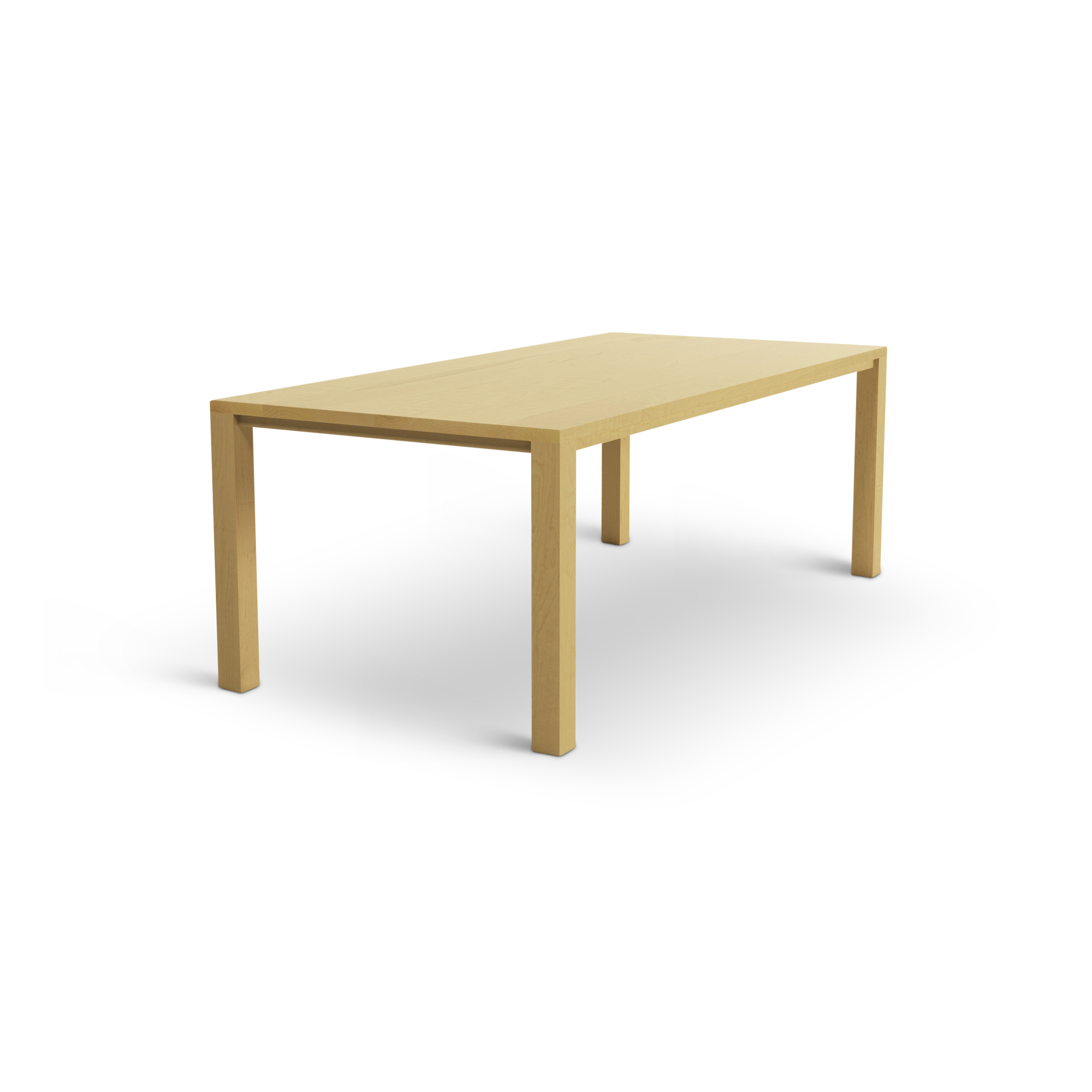 Maple Modern Table Made In The Midwest With Square Legs