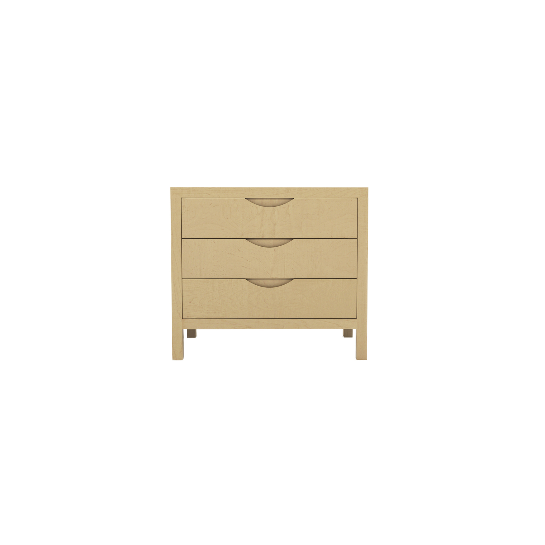 Series 353 Bedside Table With Three Drawers