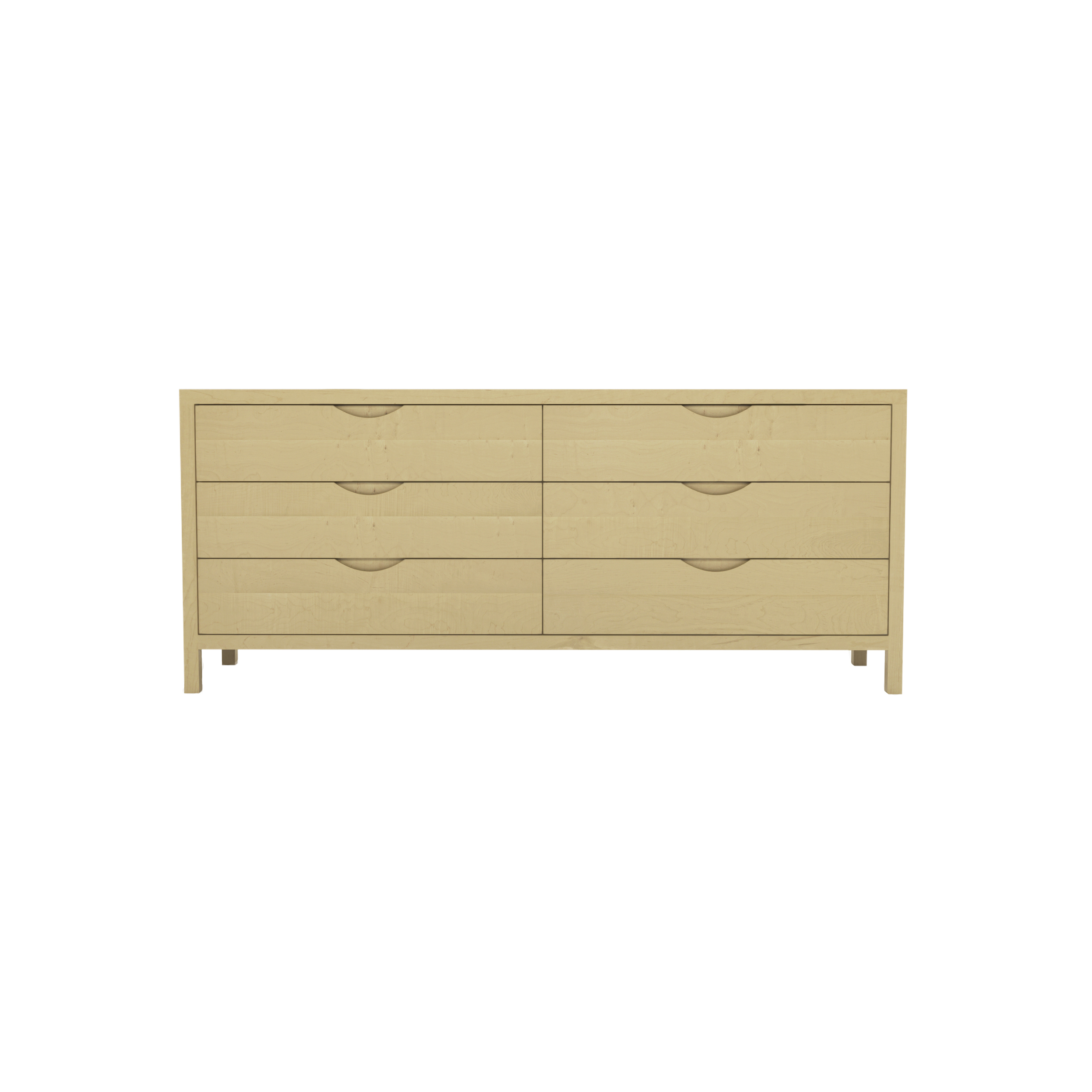 Series 353 Dresser With Six Drawers At 72″ In Width